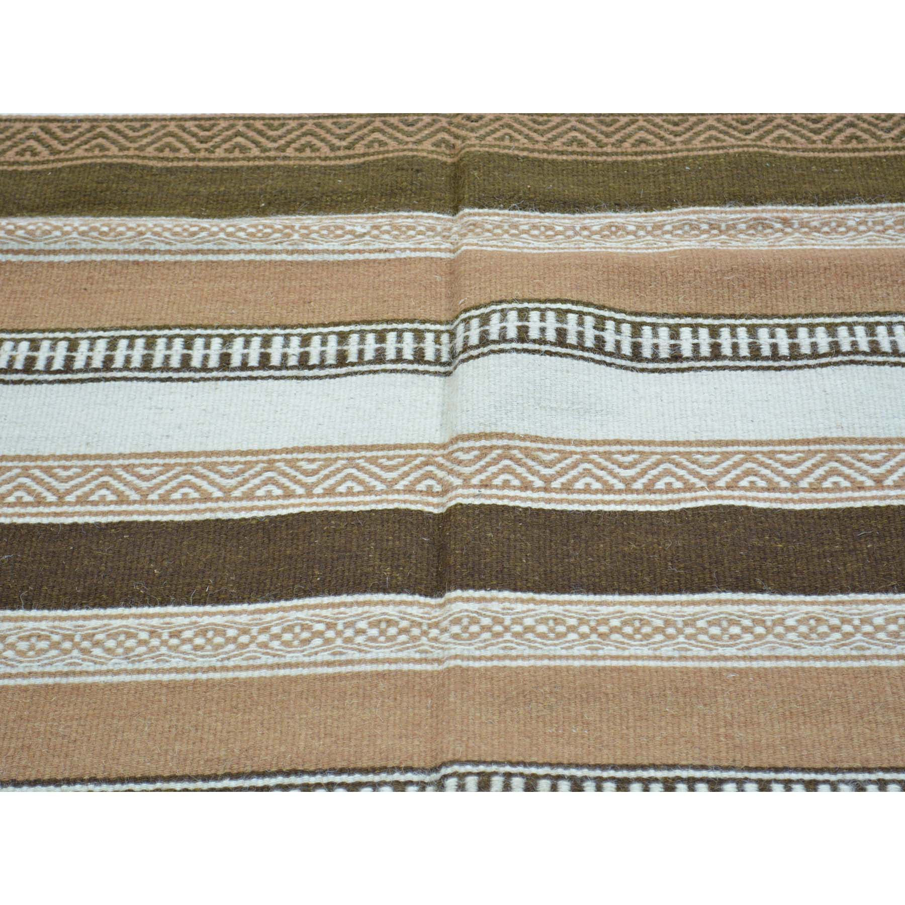 "Handmade Flat Weave Rectangle Rug > Design# SH30008 > Size: 3'-10"" x 6'-2"" [ONLINE ONLY]"