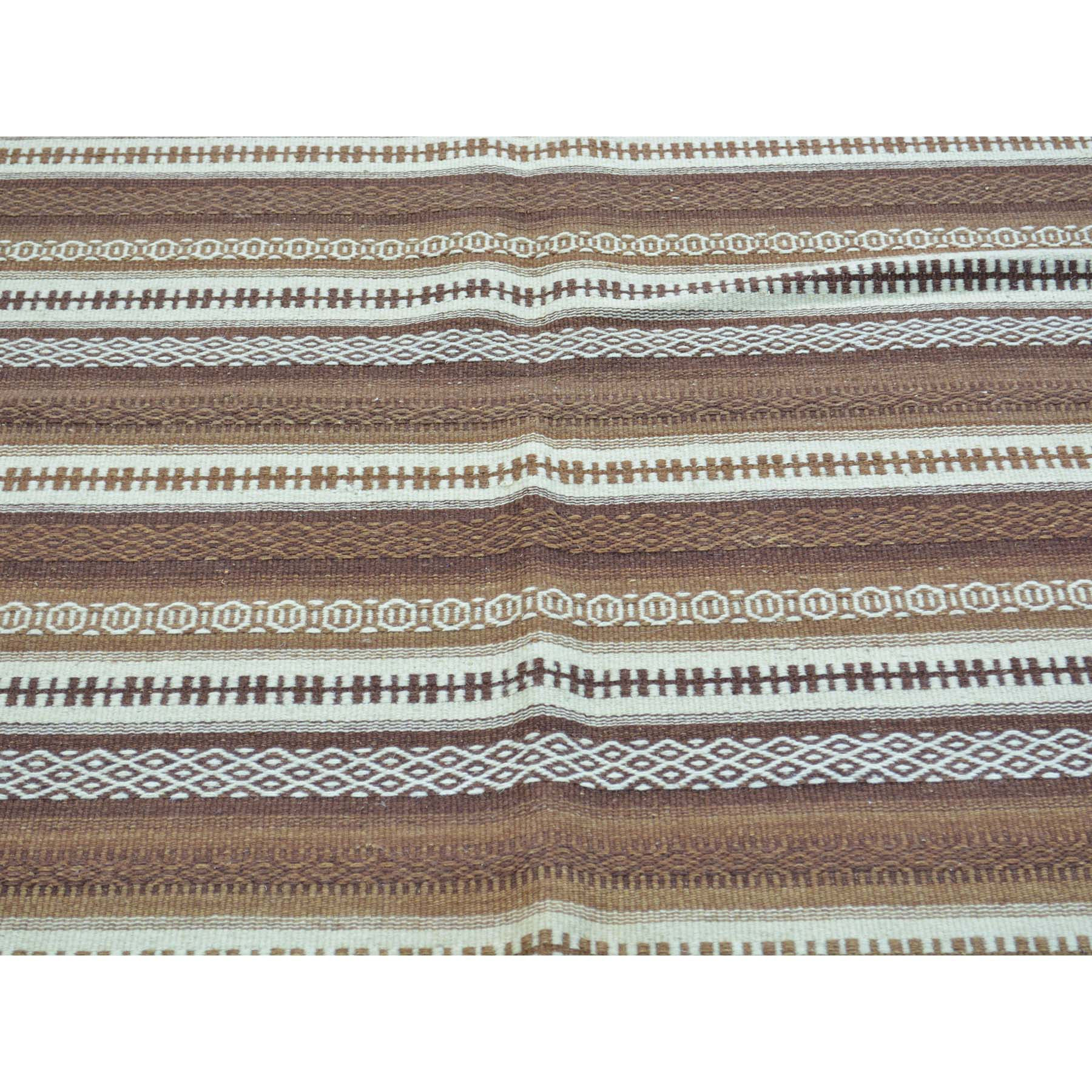 "Handmade Flat Weave Rectangle Rug > Design# SH30016 > Size: 4'-0"" x 6'-0"" [ONLINE ONLY]"