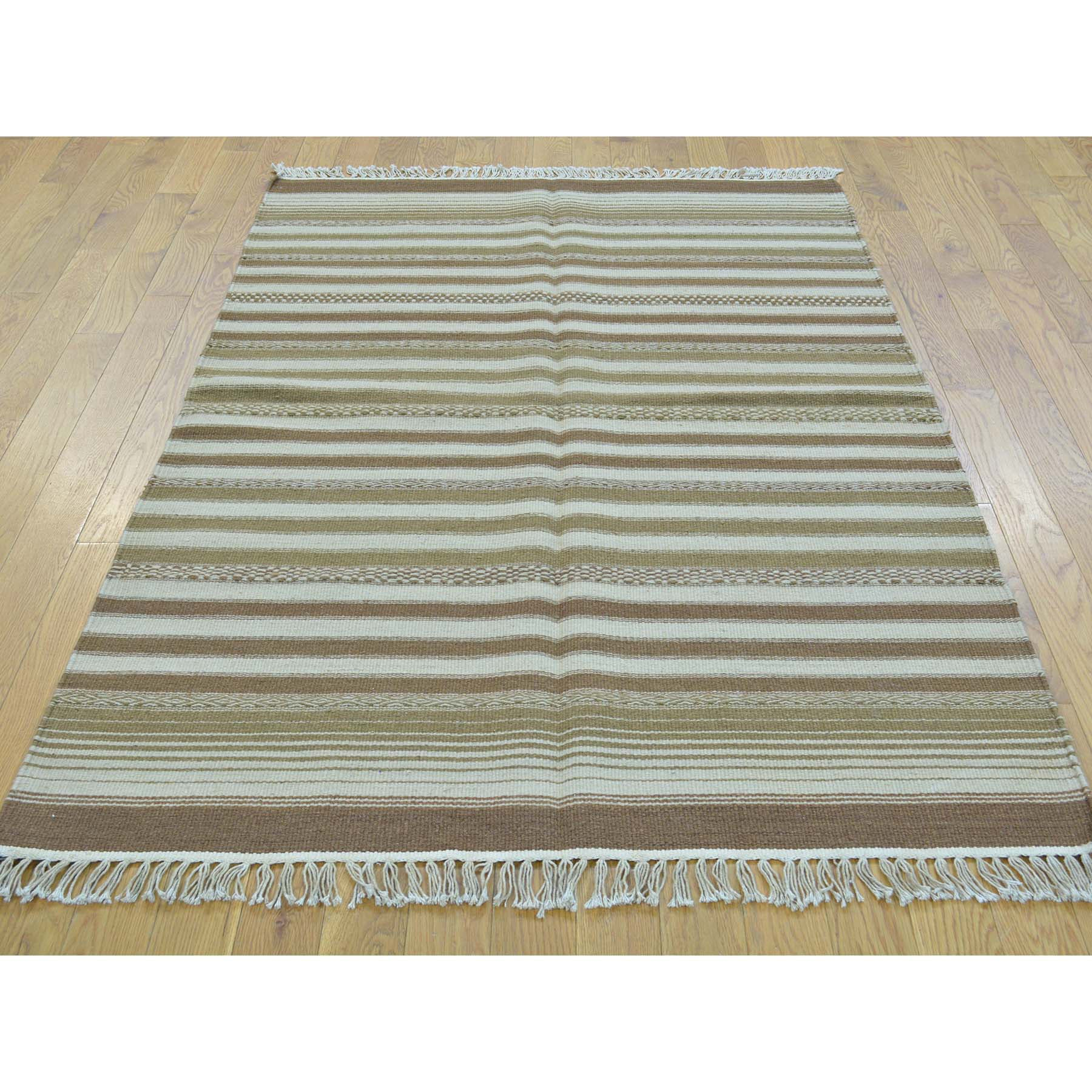 "Handmade Flat Weave Rectangle Rug > Design# SH30019 > Size: 3'-10"" x 5'-10"" [ONLINE ONLY]"
