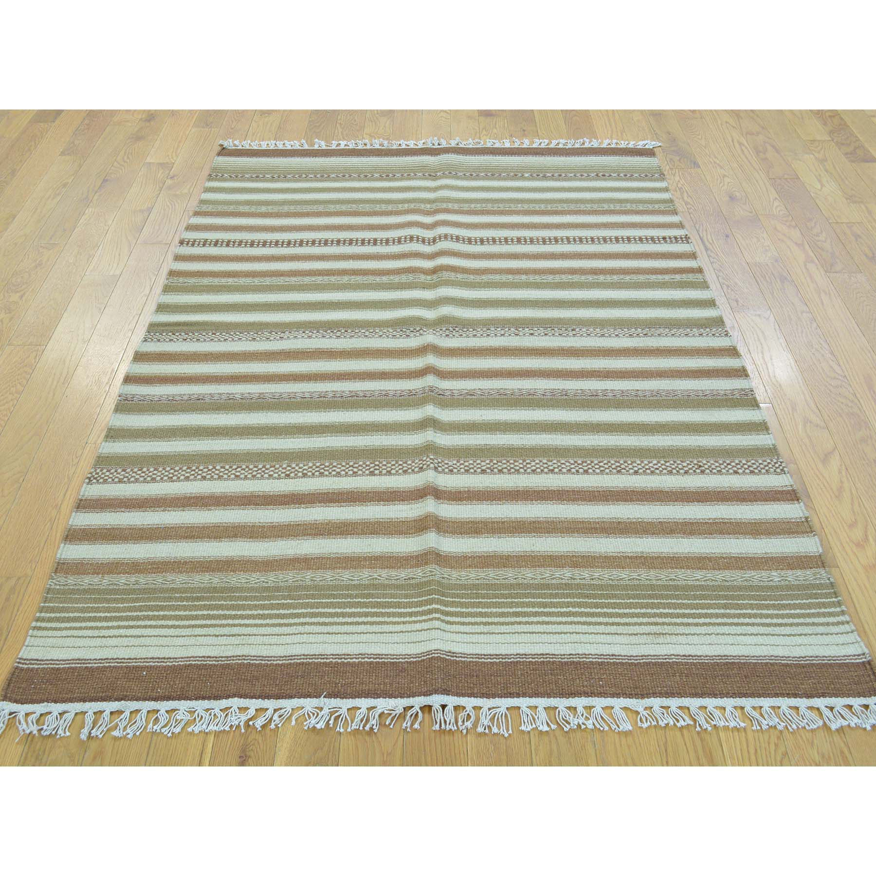 "Handmade Flat Weave Rectangle Rug > Design# SH30021 > Size: 4'-0"" x 6'-0"" [ONLINE ONLY]"