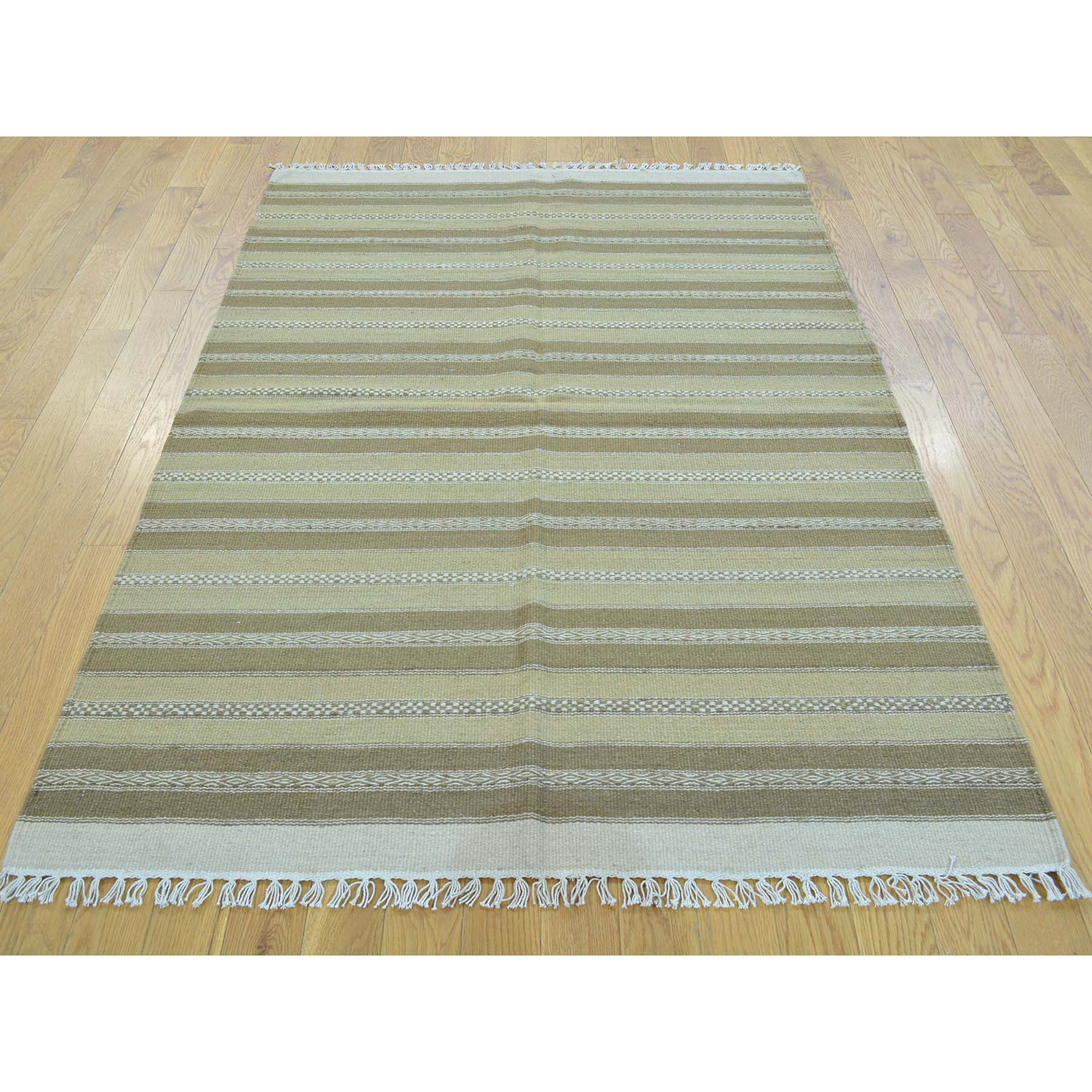 "Handmade Flat Weave Rectangle Rug > Design# SH30022 > Size: 3'-10"" x 6'-0"" [ONLINE ONLY]"