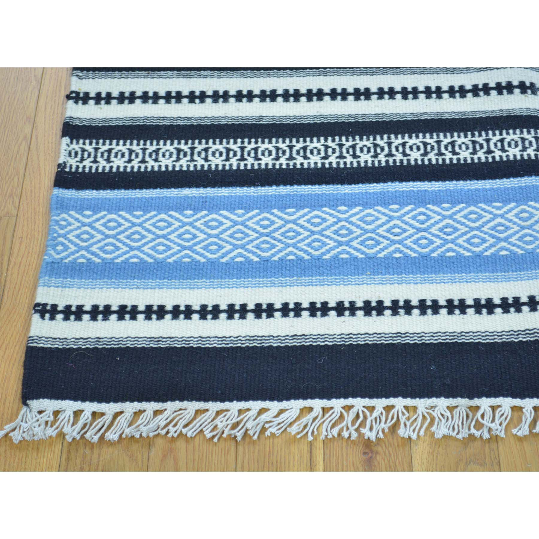 "Handmade Flat Weave Rectangle Rug > Design# SH30026 > Size: 3'-10"" x 6'-1"" [ONLINE ONLY]"