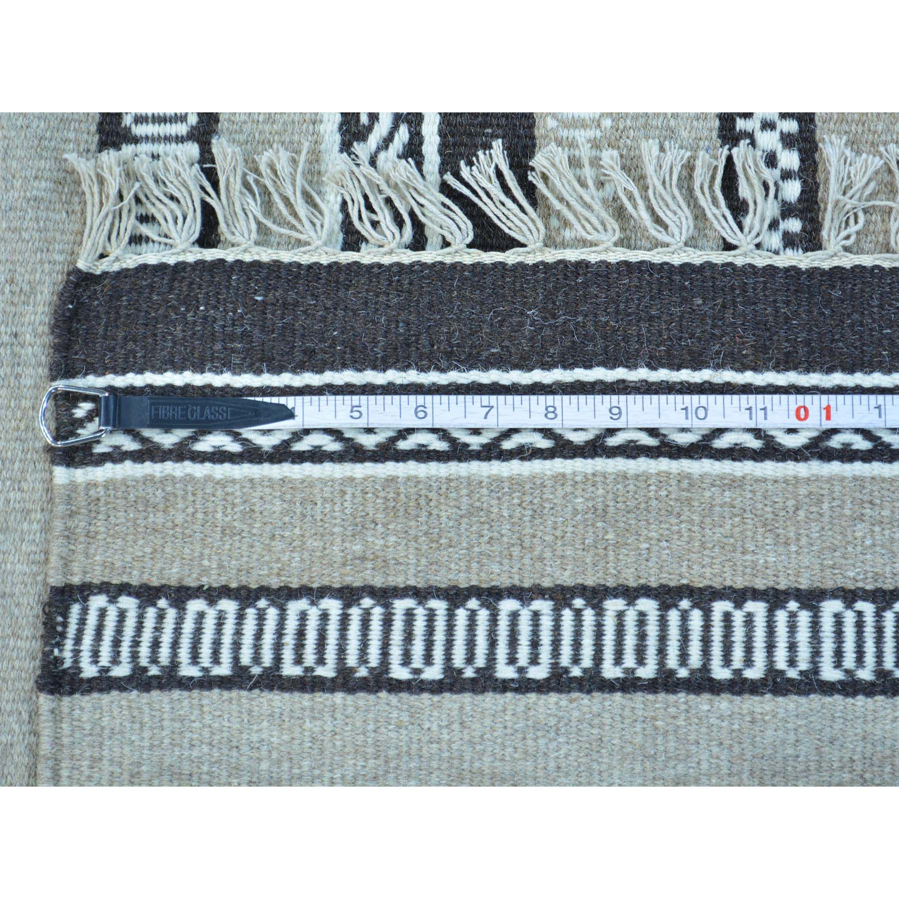 "Handmade Flat Weave Rectangle Rug > Design# SH30036 > Size: 4'-0"" x 5'-10"" [ONLINE ONLY]"