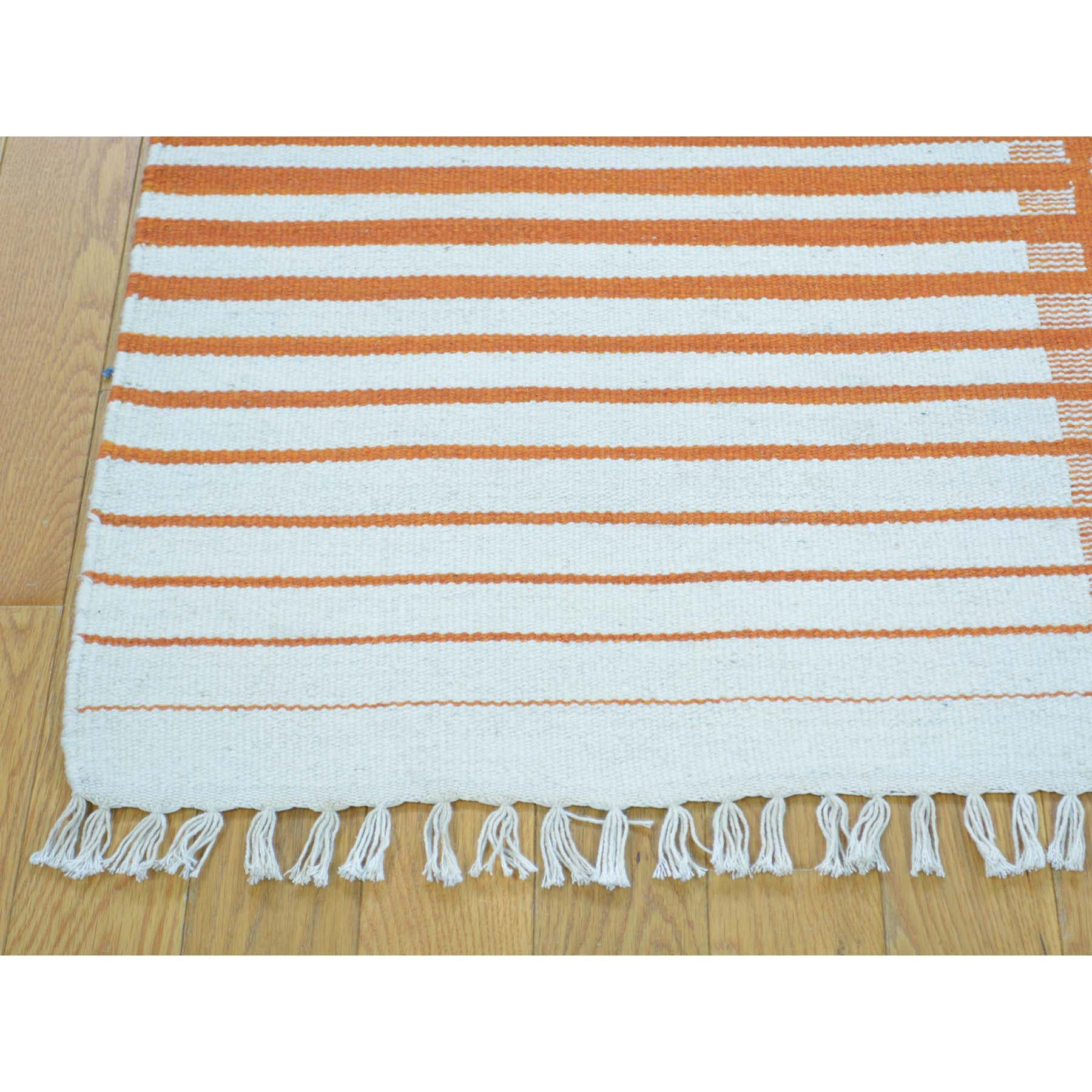 "Handmade Flat Weave Rectangle Rug > Design# SH30052 > Size: 5'-4"" x 7'-8"" [ONLINE ONLY]"