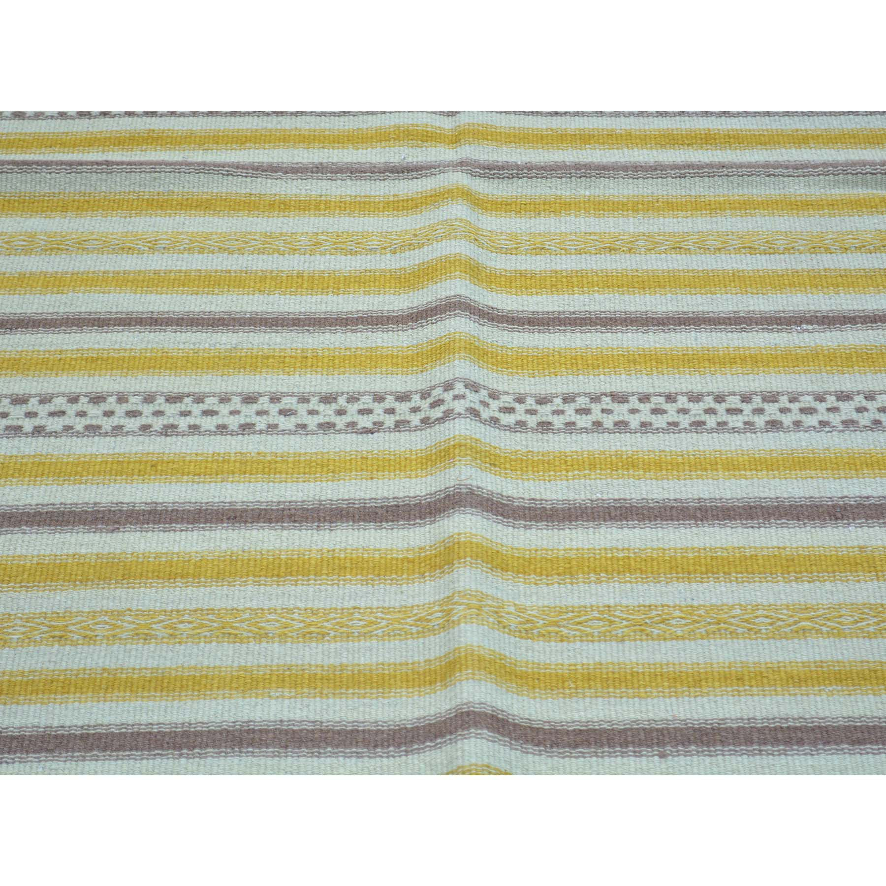 "Handmade Flat Weave Rectangle Rug > Design# SH30054 > Size: 3'-10"" x 6'-1"" [ONLINE ONLY]"