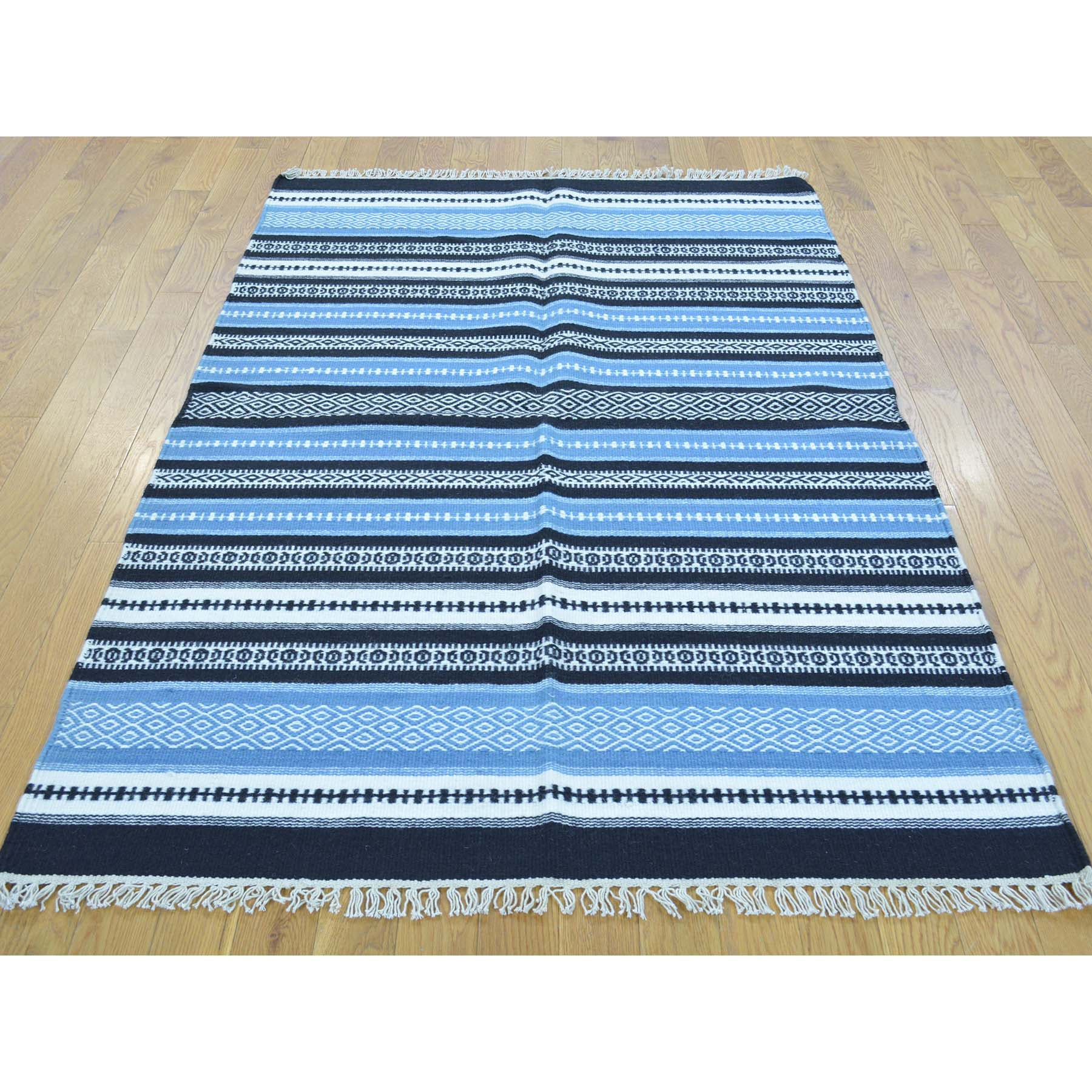 "Handmade Flat Weave Rectangle Rug > Design# SH30072 > Size: 3'-10"" x 6'-0"" [ONLINE ONLY]"