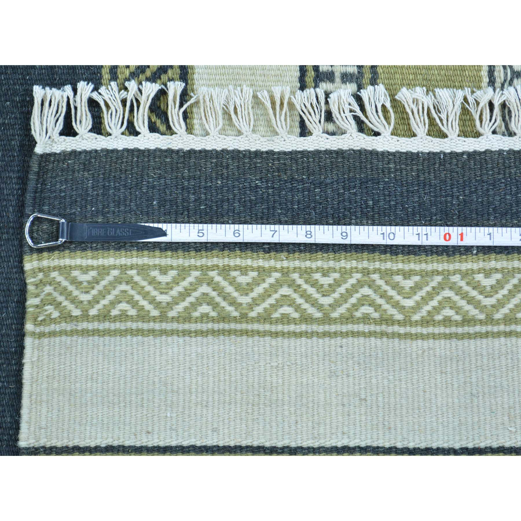 "Handmade Flat Weave Rectangle Rug > Design# SH30120 > Size: 3'-10"" x 6'-1"" [ONLINE ONLY]"