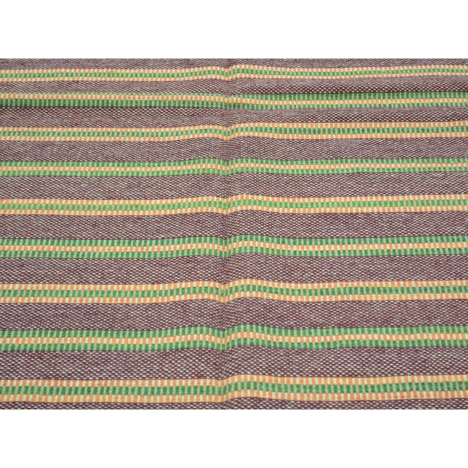 "Handmade Flat Weave Rectangle Rug > Design# SH30121 > Size: 4'-5"" x 6'-6"" [ONLINE ONLY]"