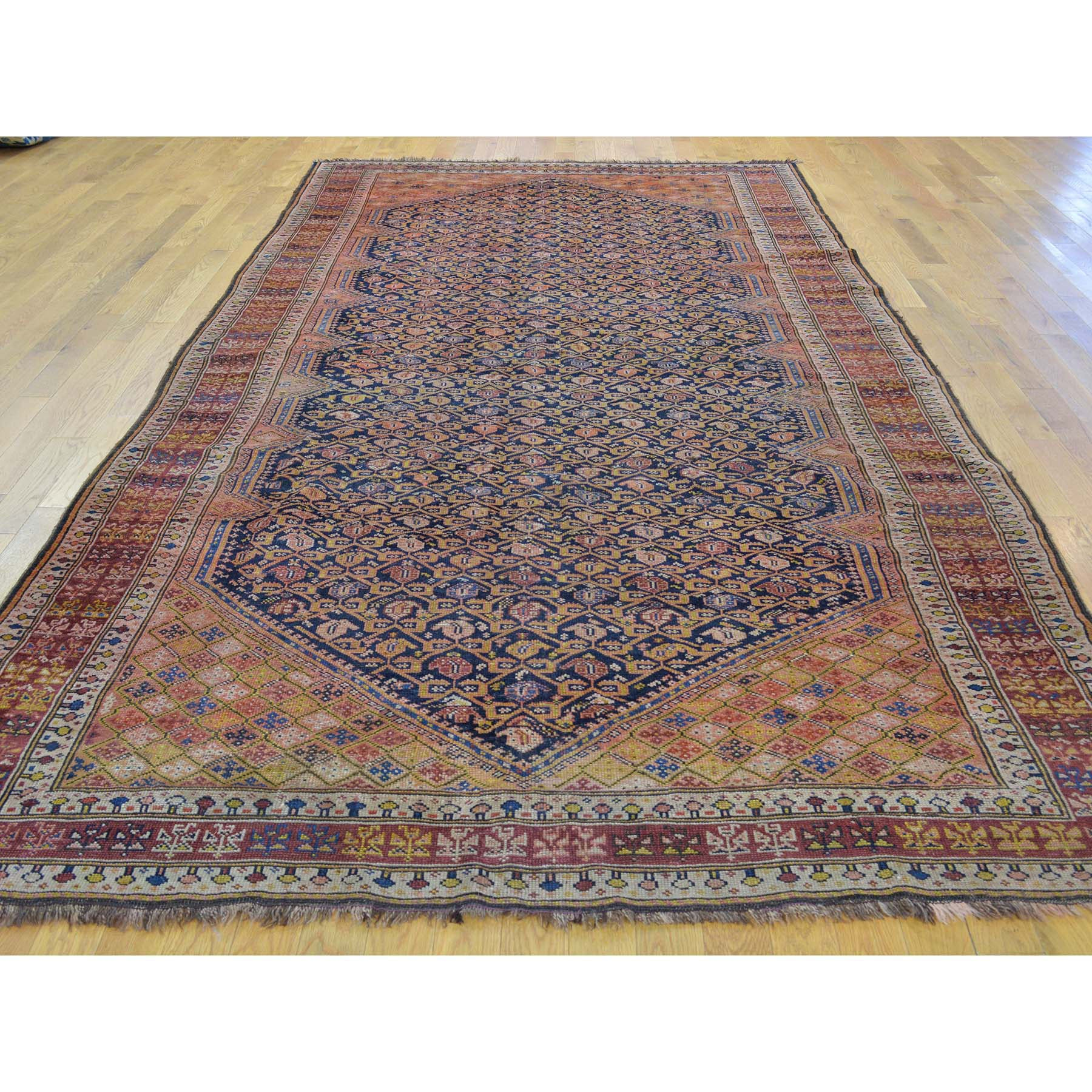 "Handmade Antique Runner Rug > Design# SH30160 > Size: 6'-3"" x 11'-10"" [ONLINE ONLY]"