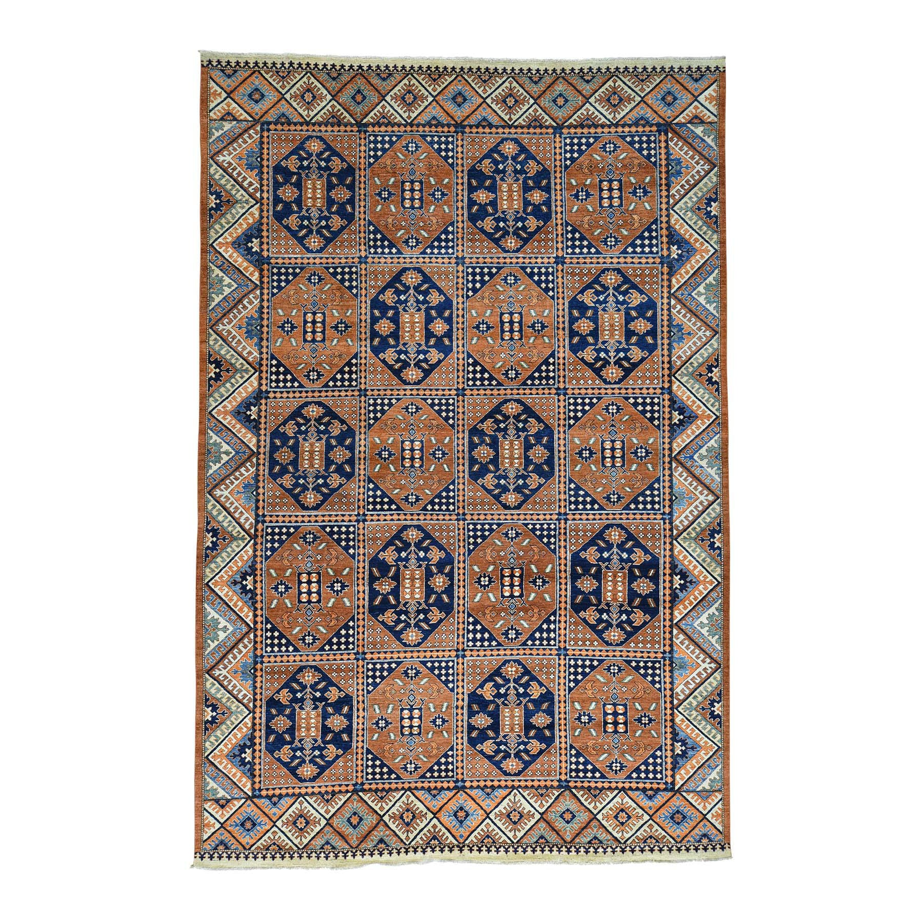 "Handmade Tribal & Geometric Rectangle Rug > Design# SH30336 > Size: 9'-10"" x 14'-10"" [ONLINE ONLY]"