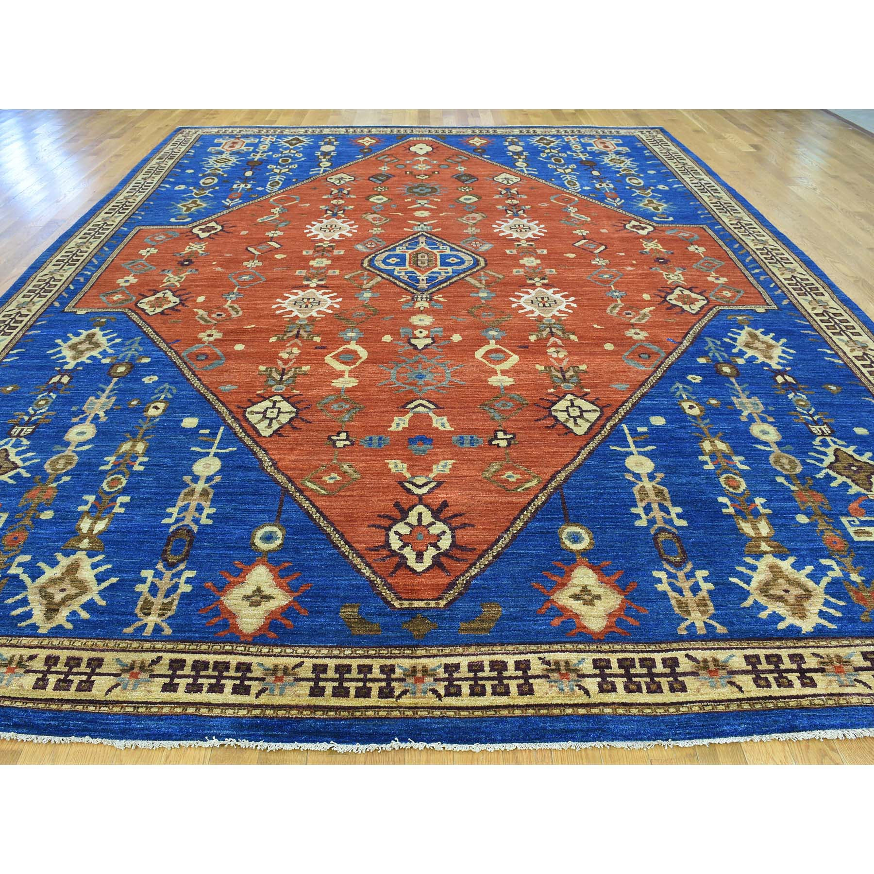 "Handmade Heriz Rectangle Rug > Design# SH30363 > Size: 10'-2"" x 14'-2"" [ONLINE ONLY]"