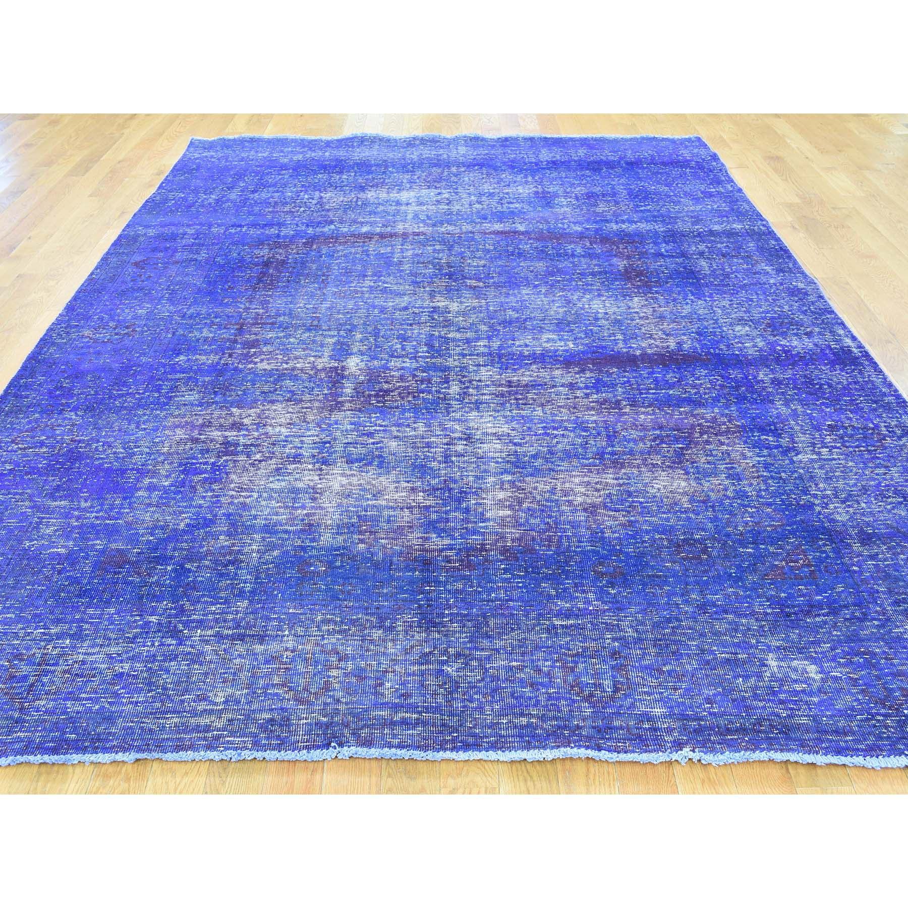 "Handmade Overdyed & Vintage Rectangle Rug > Design# SH30428 > Size: 6'-10"" x 10'-1"" [ONLINE ONLY]"