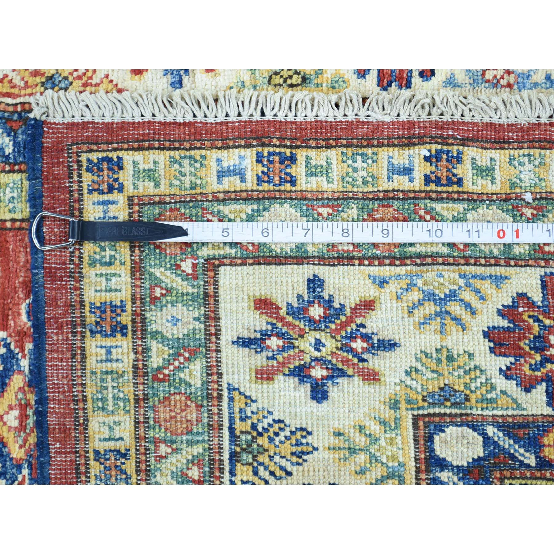 "Handmade Kazak Rectangle Rug > Design# SH31119 > Size: 4'-1"" x 5'-7"" [ONLINE ONLY]"