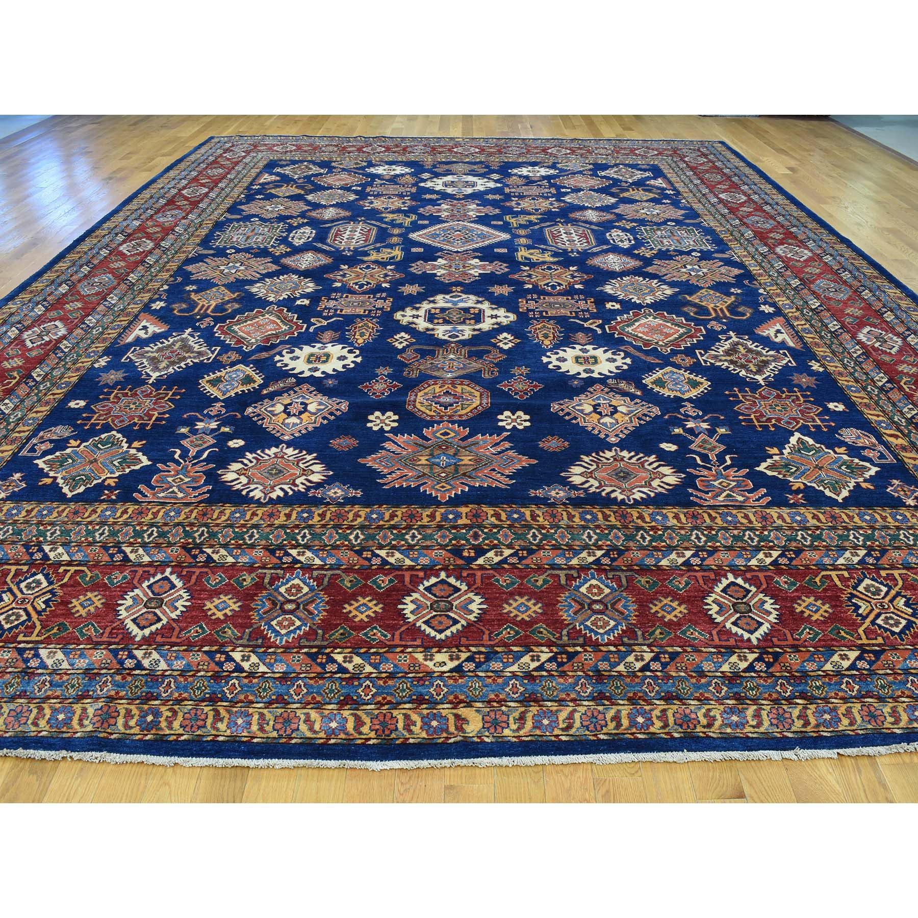 "Handmade Kazak Rectangle Rug > Design# SH31385 > Size: 11'-10"" x 16'-2"" [ONLINE ONLY]"