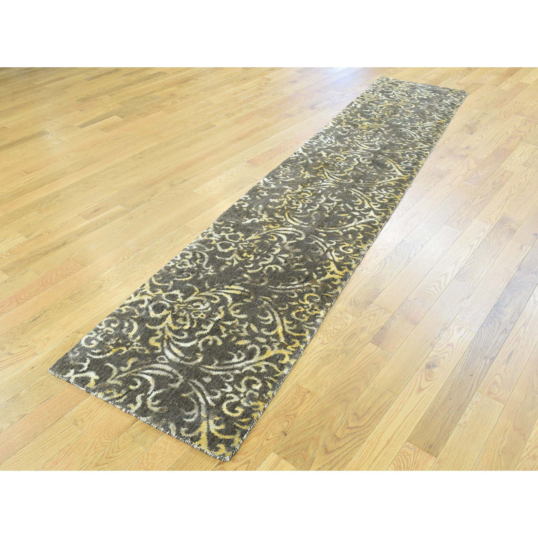 "Handmade Modern and Contemporary Runner Rug > Design# SH31704 > Size: 2'-0"" x 9'-10"" [ONLINE ONLY]"