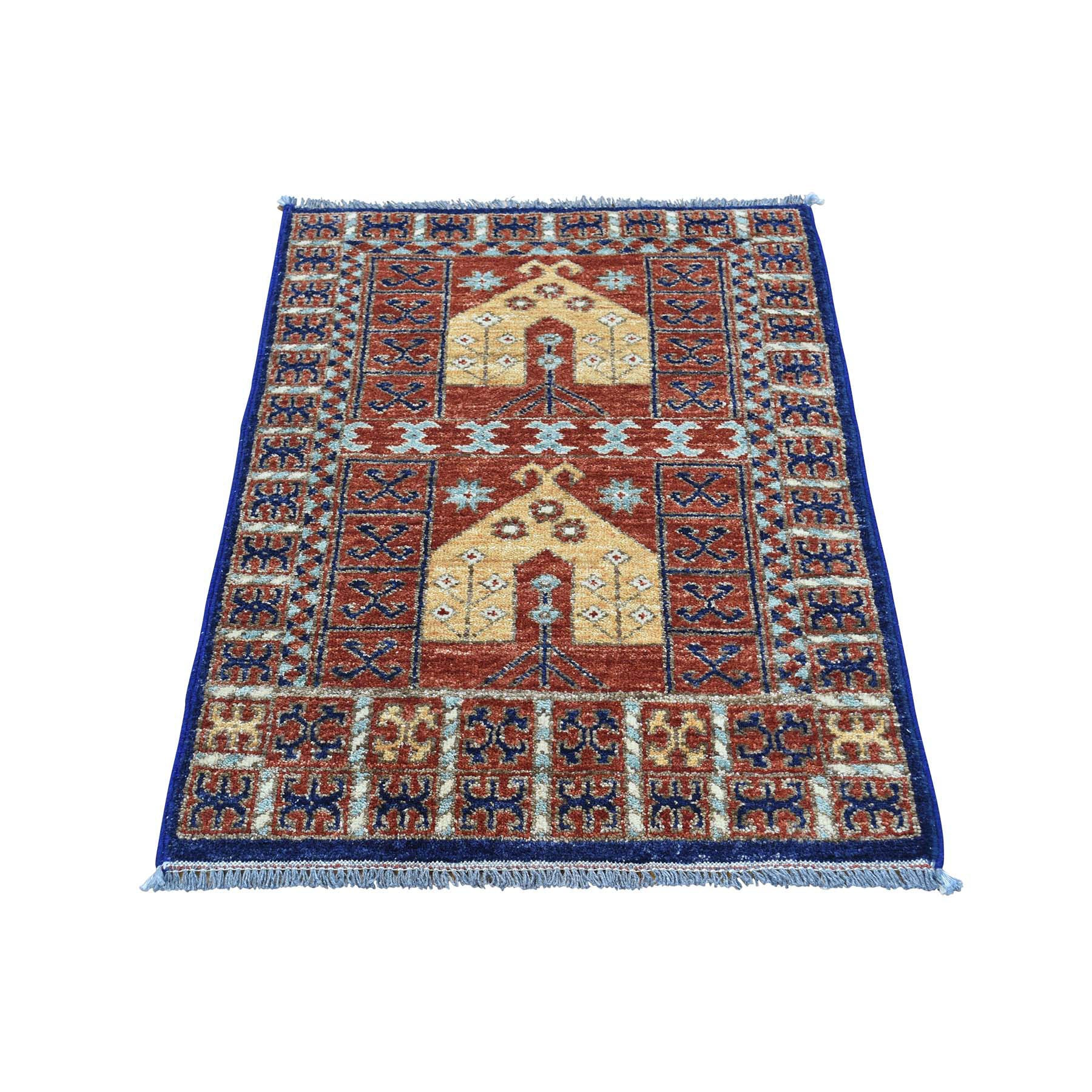 "Handmade Tribal & Geometric Rectangle Rug > Design# SH31748 > Size: 2'-0"" x 3'-2"" [ONLINE ONLY]"