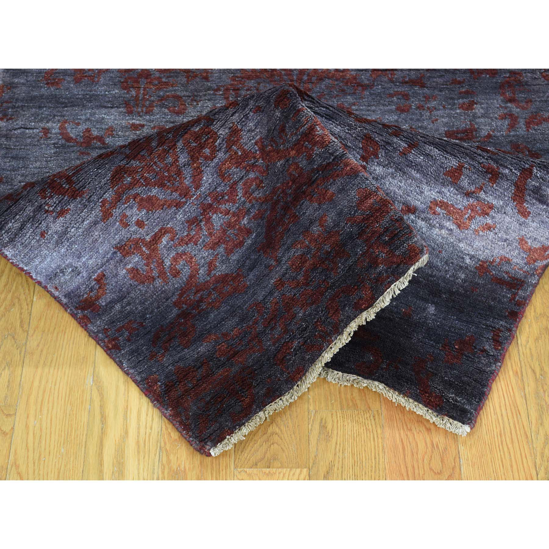 "Handmade Modern and Contemporary Runner Rug > Design# SH31803 > Size: 2'-7"" x 9'-9"" [ONLINE ONLY]"
