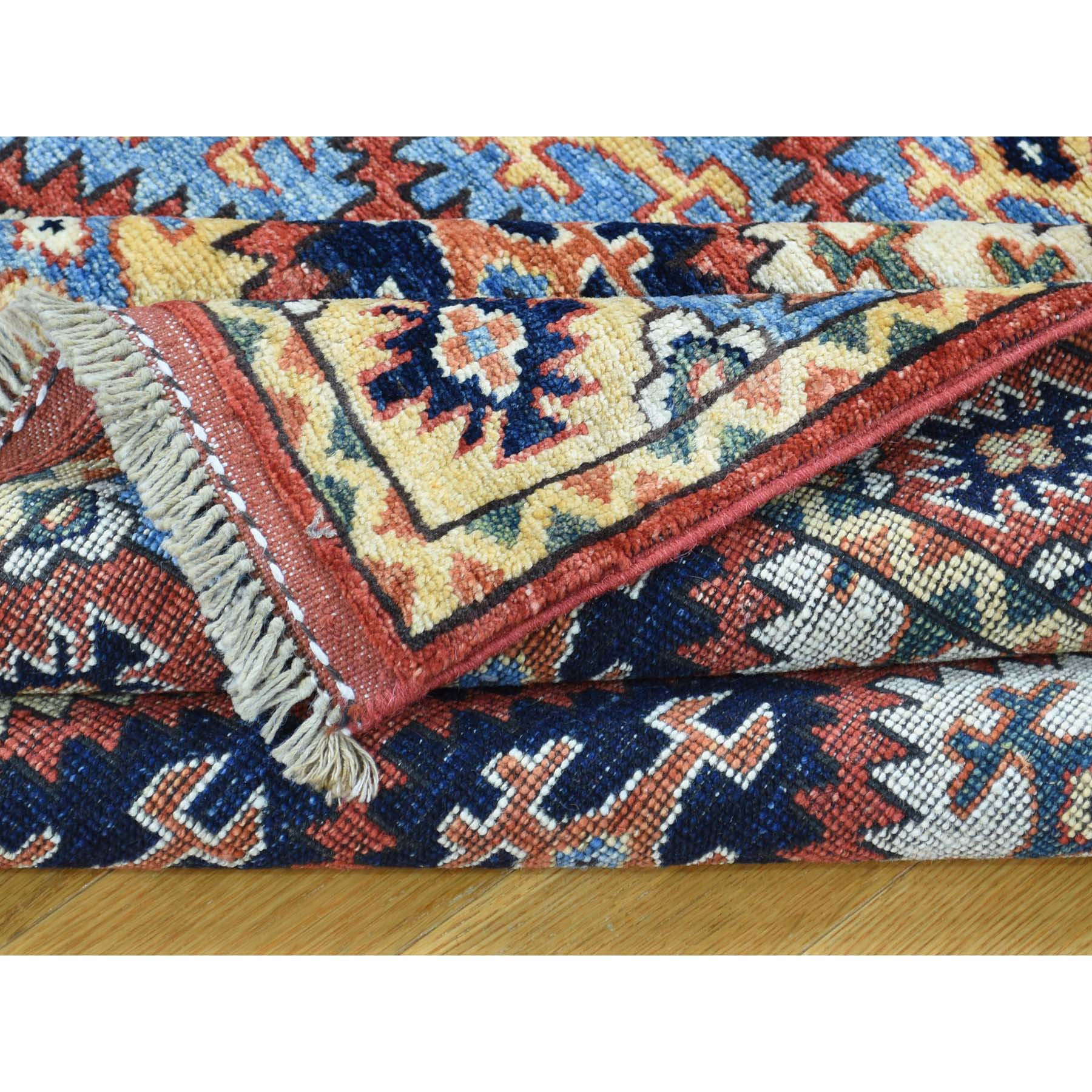 "Handmade Tribal & Geometric Rectangle Rug > Design# SH31808 > Size: 4'-2"" x 5'-8"" [ONLINE ONLY]"
