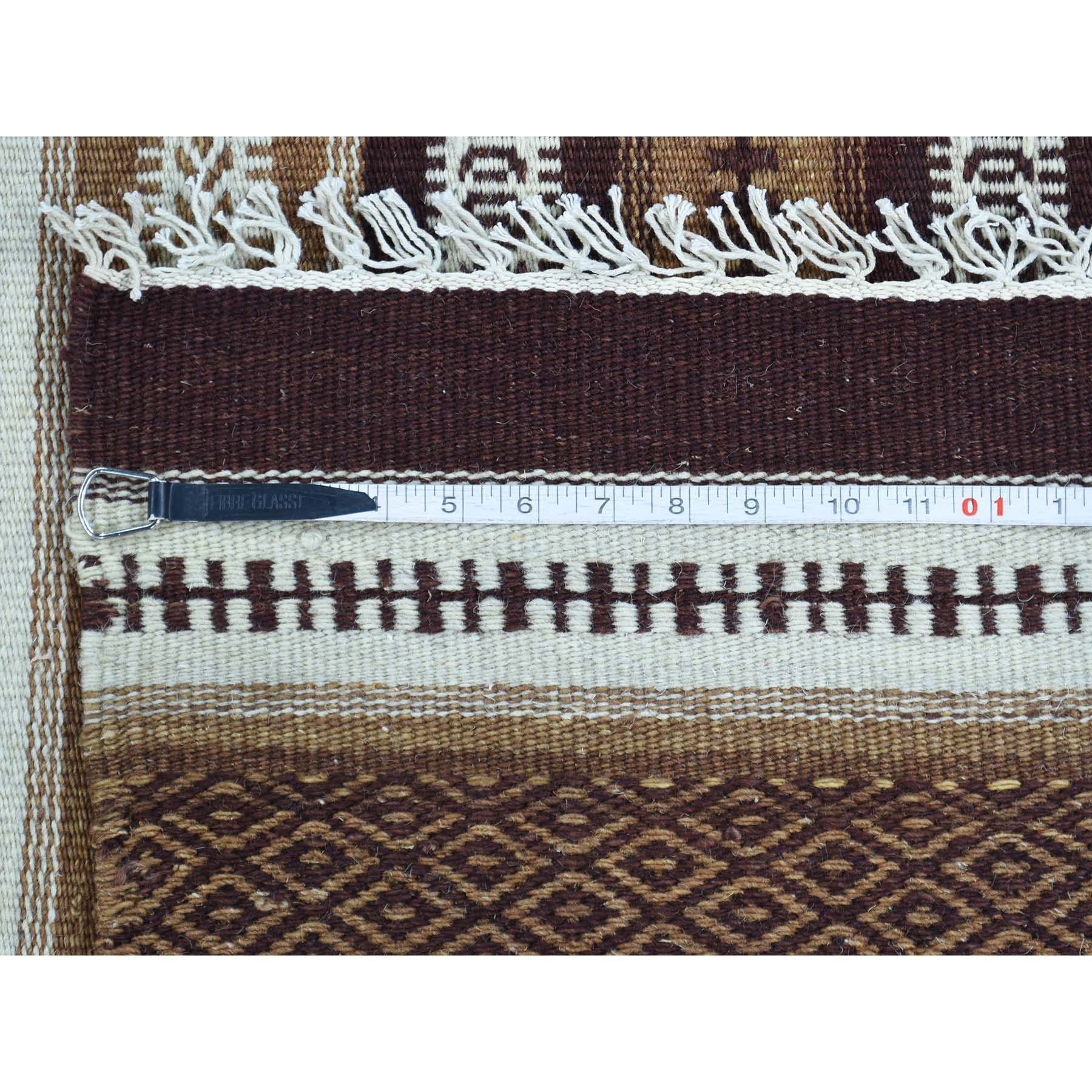 "Handmade Flat Weave Rectangle Rug > Design# SH31818 > Size: 5'-8"" x 9'-3"" [ONLINE ONLY]"
