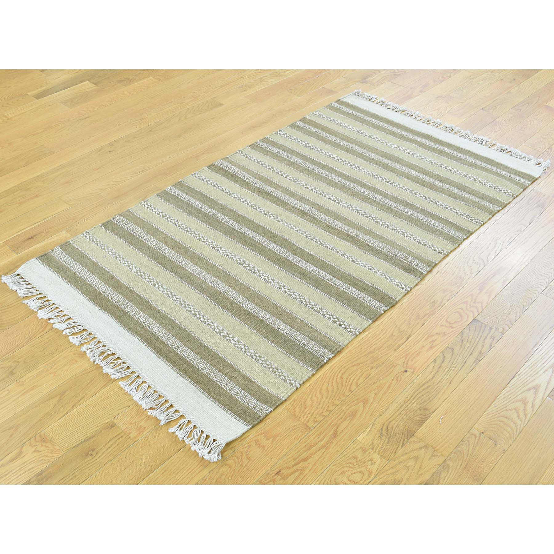 "Handmade Flat Weave Rectangle Rug > Design# SH31842 > Size: 2'-9"" x 4'-10"" [ONLINE ONLY]"