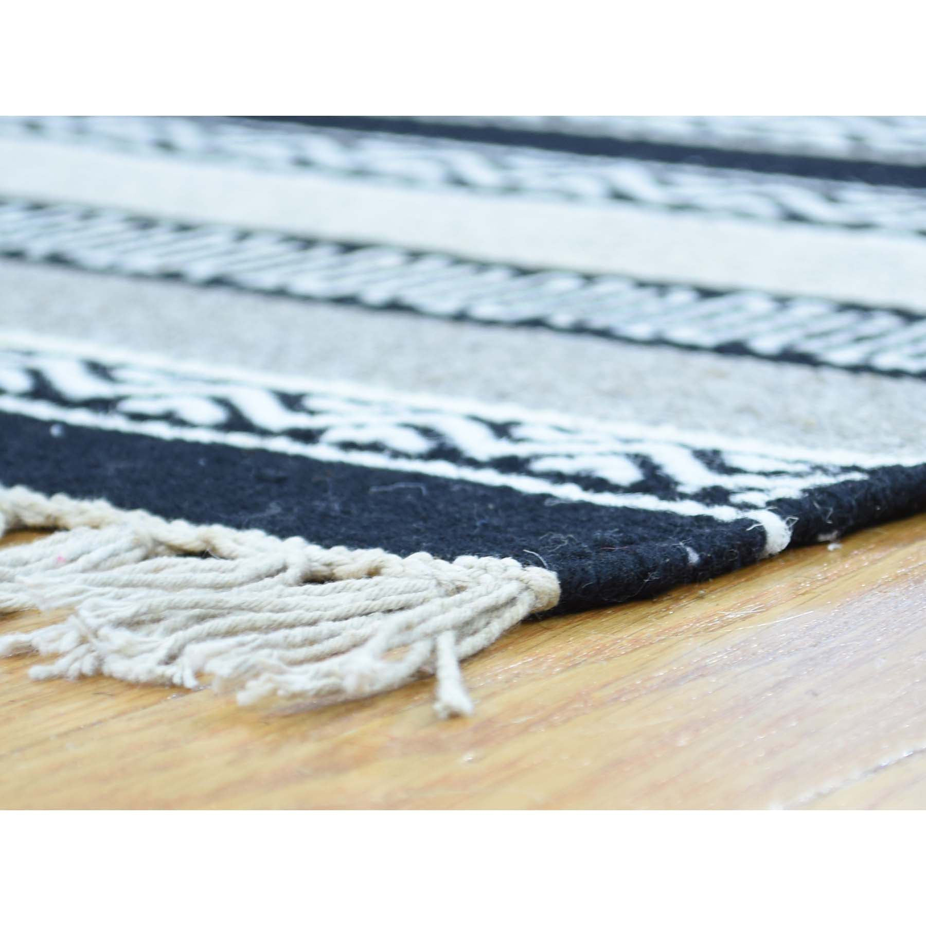 "Handmade Flat Weave Rectangle Rug > Design# SH31848 > Size: 4'-0"" x 6'-0"" [ONLINE ONLY]"