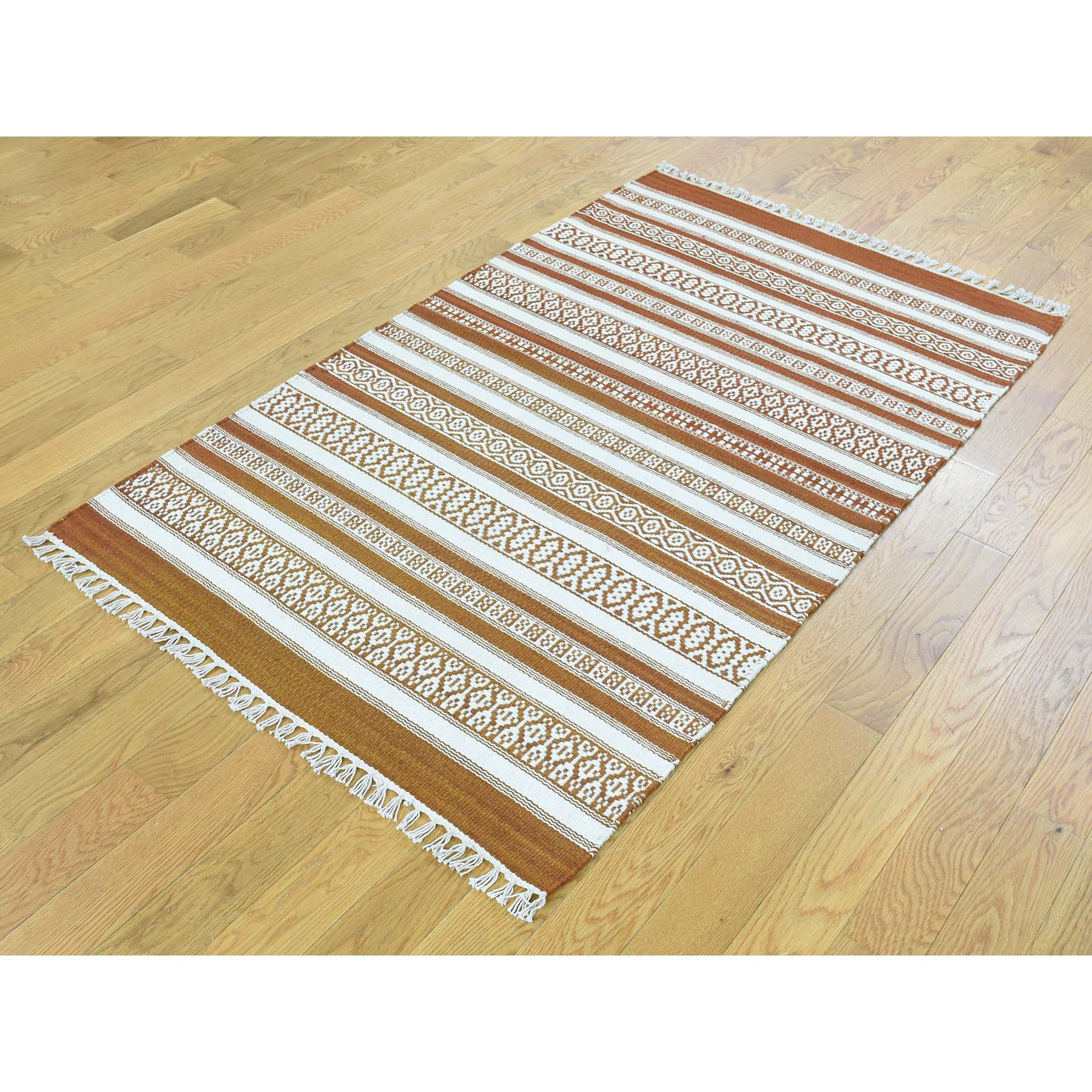 "Handmade Flat Weave Rectangle Rug > Design# SH31861 > Size: 3'-0"" x 5'-0"" [ONLINE ONLY]"