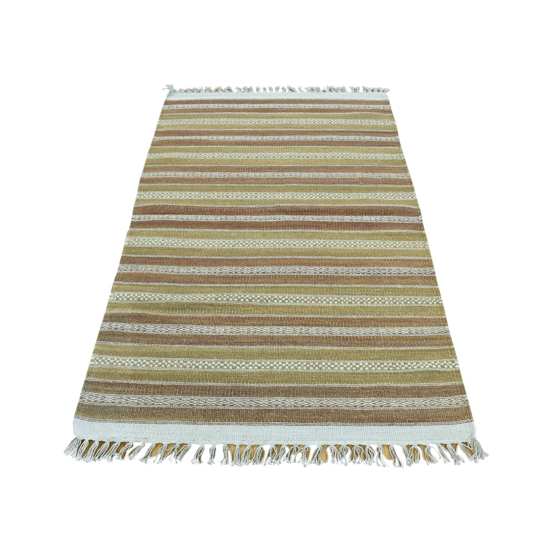 "Handmade Flat Weave Rectangle Rug > Design# SH31862 > Size: 2'-9"" x 5'-1"" [ONLINE ONLY]"