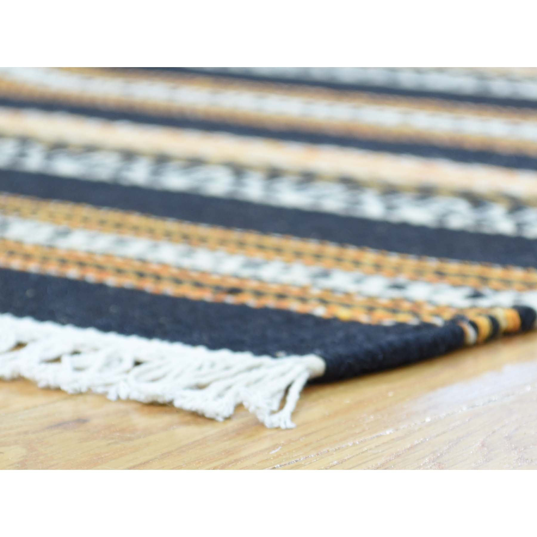 "Handmade Flat Weave Rectangle Rug > Design# SH31871 > Size: 4'-0"" x 6'-0"" [ONLINE ONLY]"