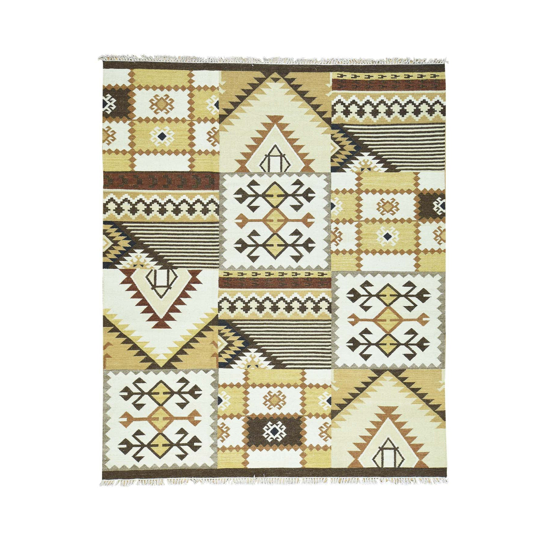"Handmade Flat Weave Rectangle Rug > Design# SH31892 > Size: 8'-3"" x 10'-2"" [ONLINE ONLY]"