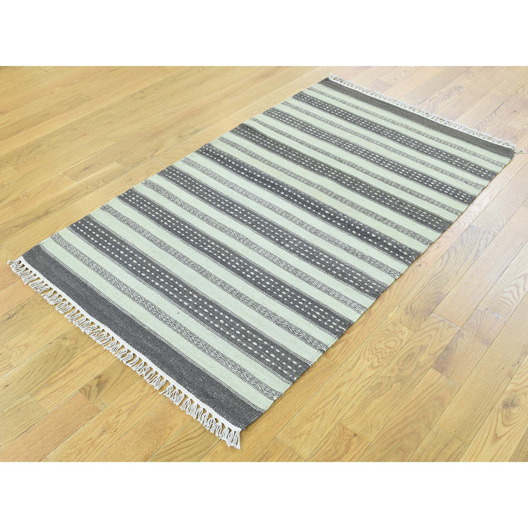 "Handmade Flat Weave Rectangle Rug > Design# SH31893 > Size: 2'-10"" x 4'-10"" [ONLINE ONLY]"