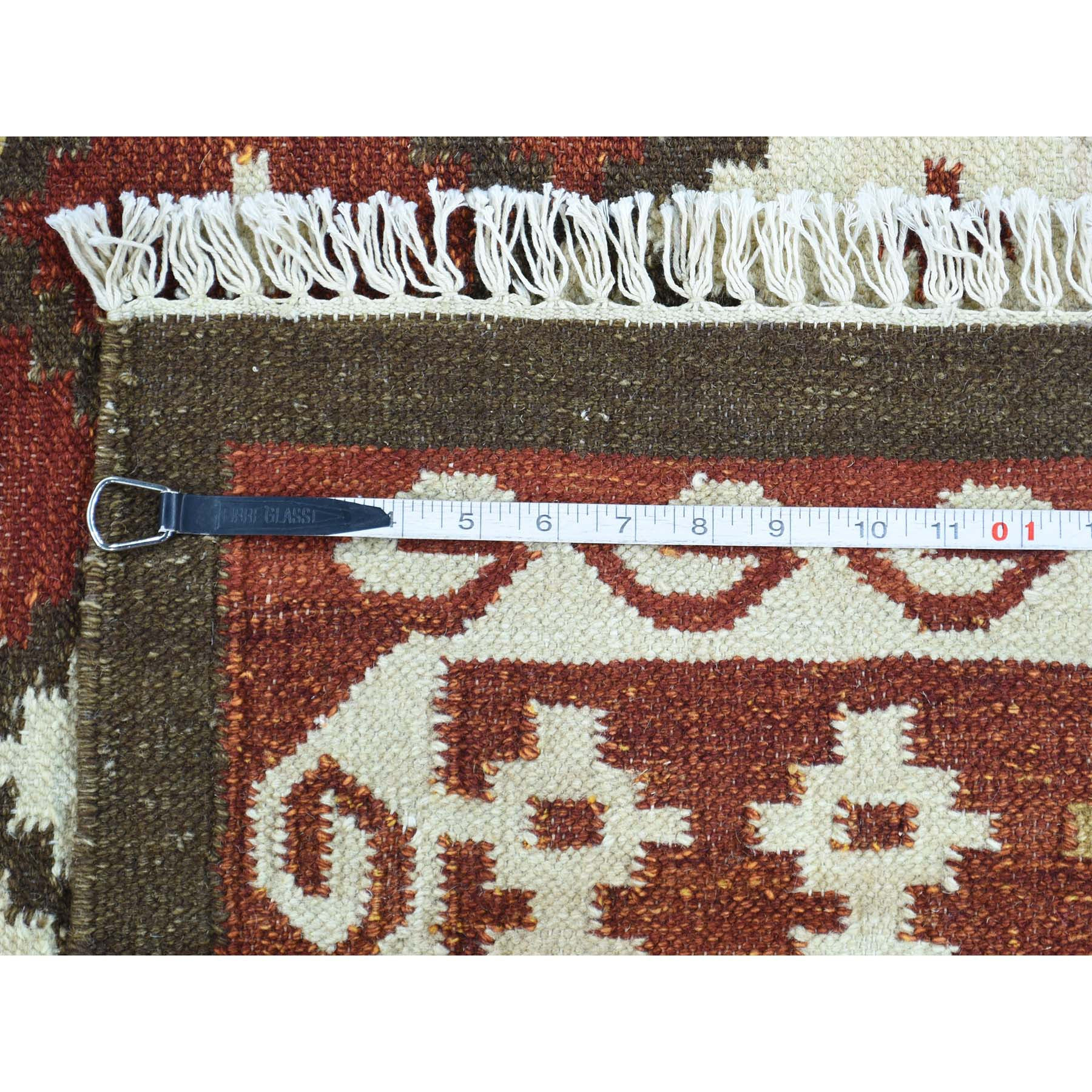 "Handmade Flat Weave Rectangle Rug > Design# SH31932 > Size: 5'-3"" x 8'-0"" [ONLINE ONLY]"