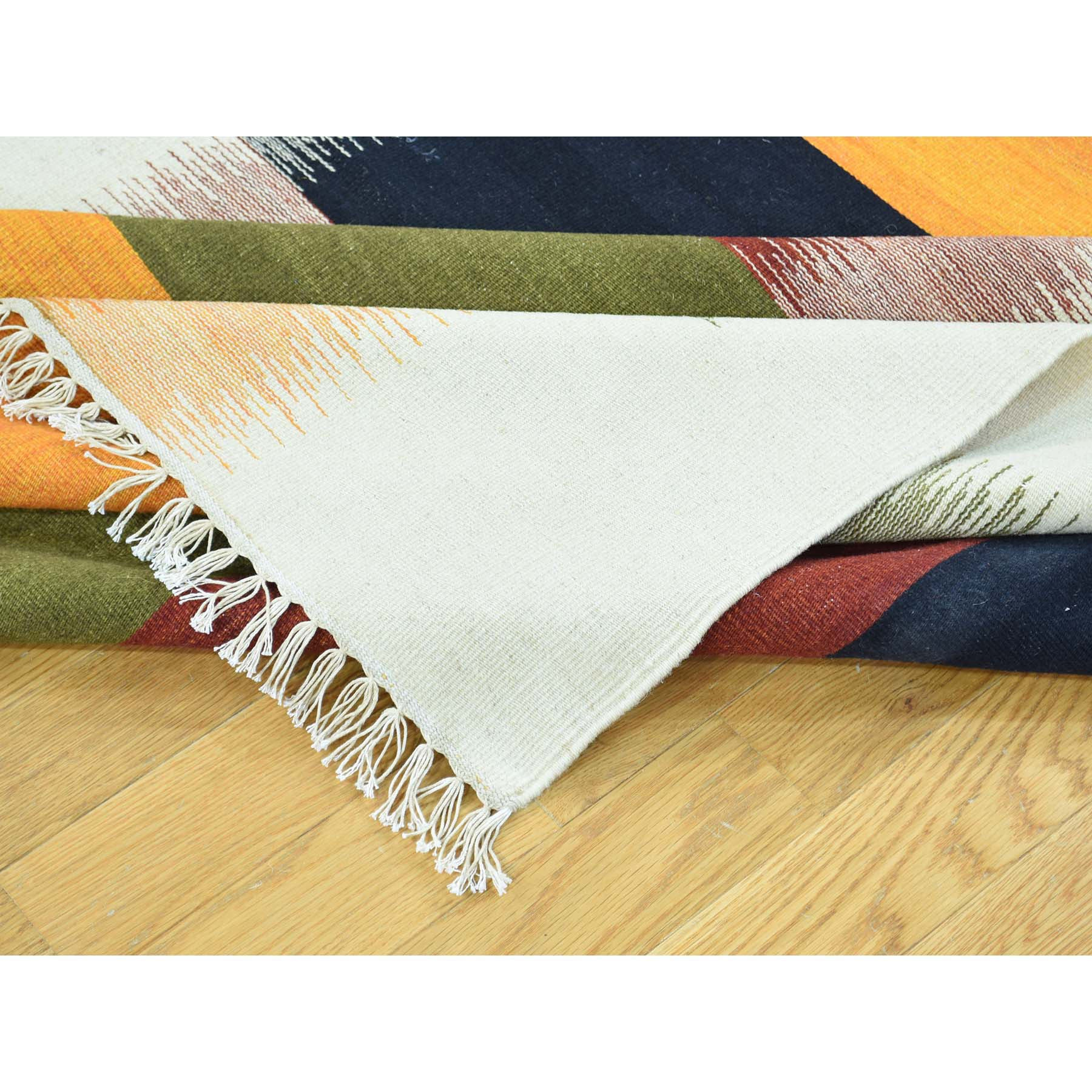 "Handmade Flat Weave Rectangle Rug > Design# SH31939 > Size: 5'-1"" x 8'-4"" [ONLINE ONLY]"