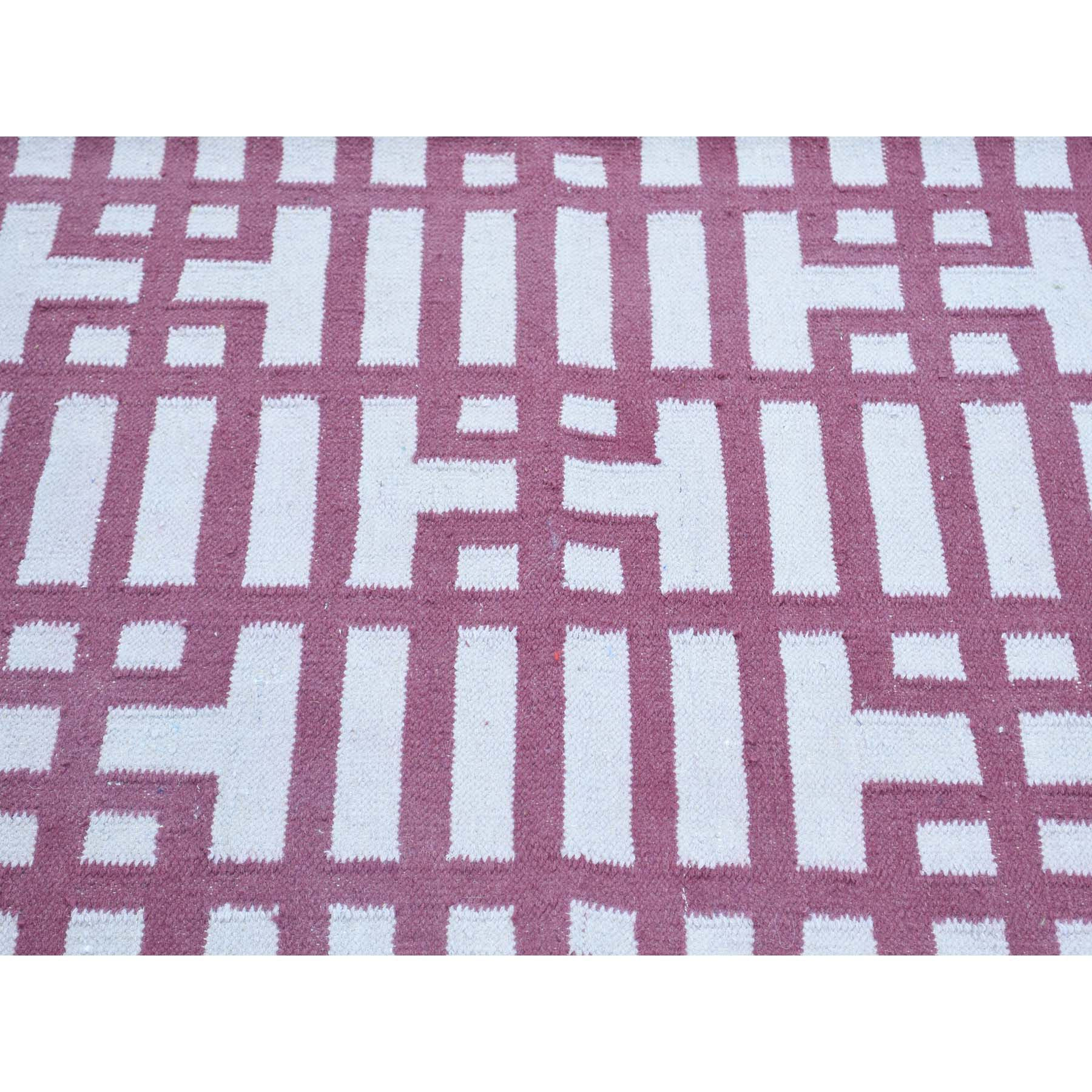 "Handmade Flat Weave Rectangle Rug > Design# SH32016 > Size: 4'-0"" x 6'-2"" [ONLINE ONLY]"