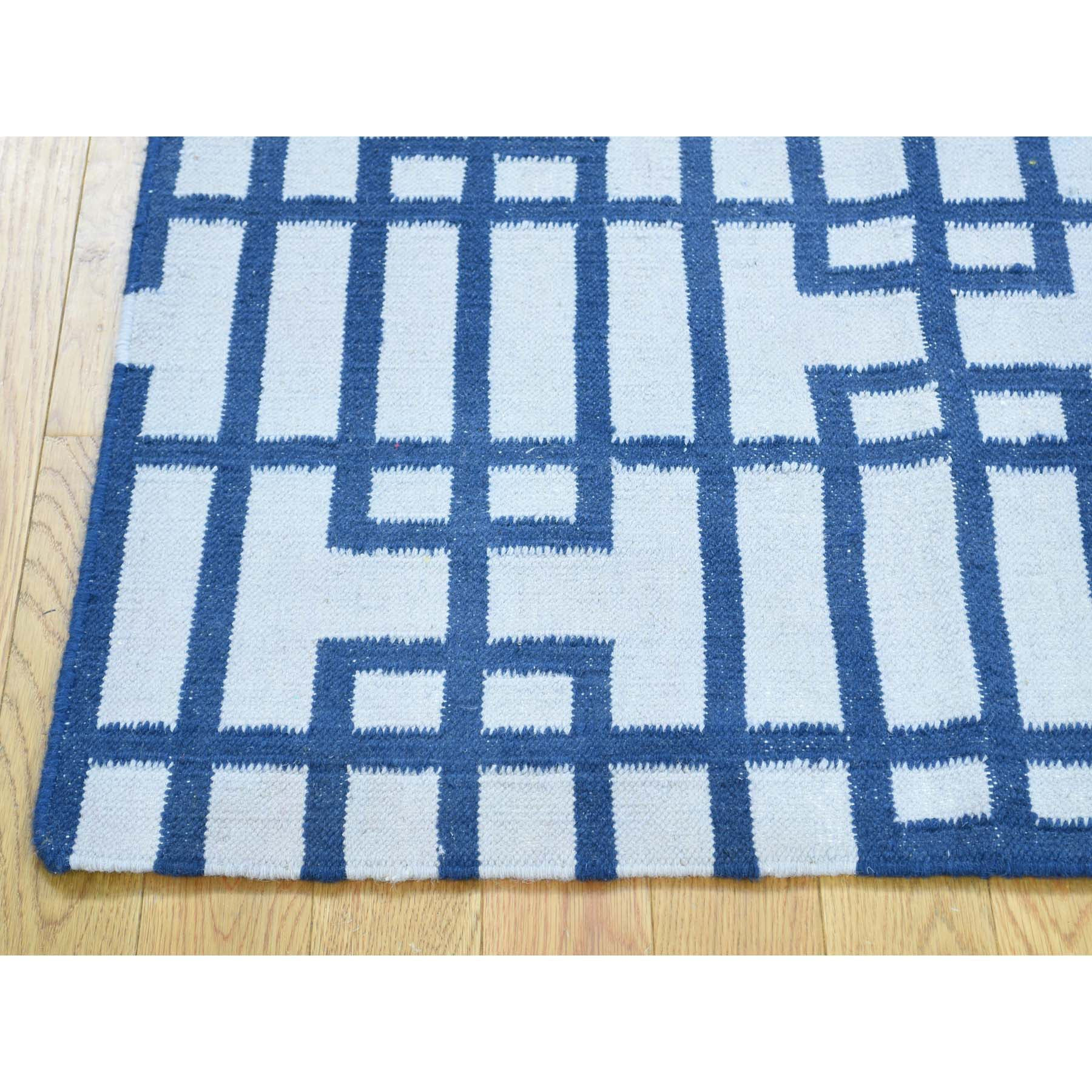 "Handmade Flat Weave Rectangle Rug > Design# SH32031 > Size: 3'-1"" x 5'-4"" [ONLINE ONLY]"