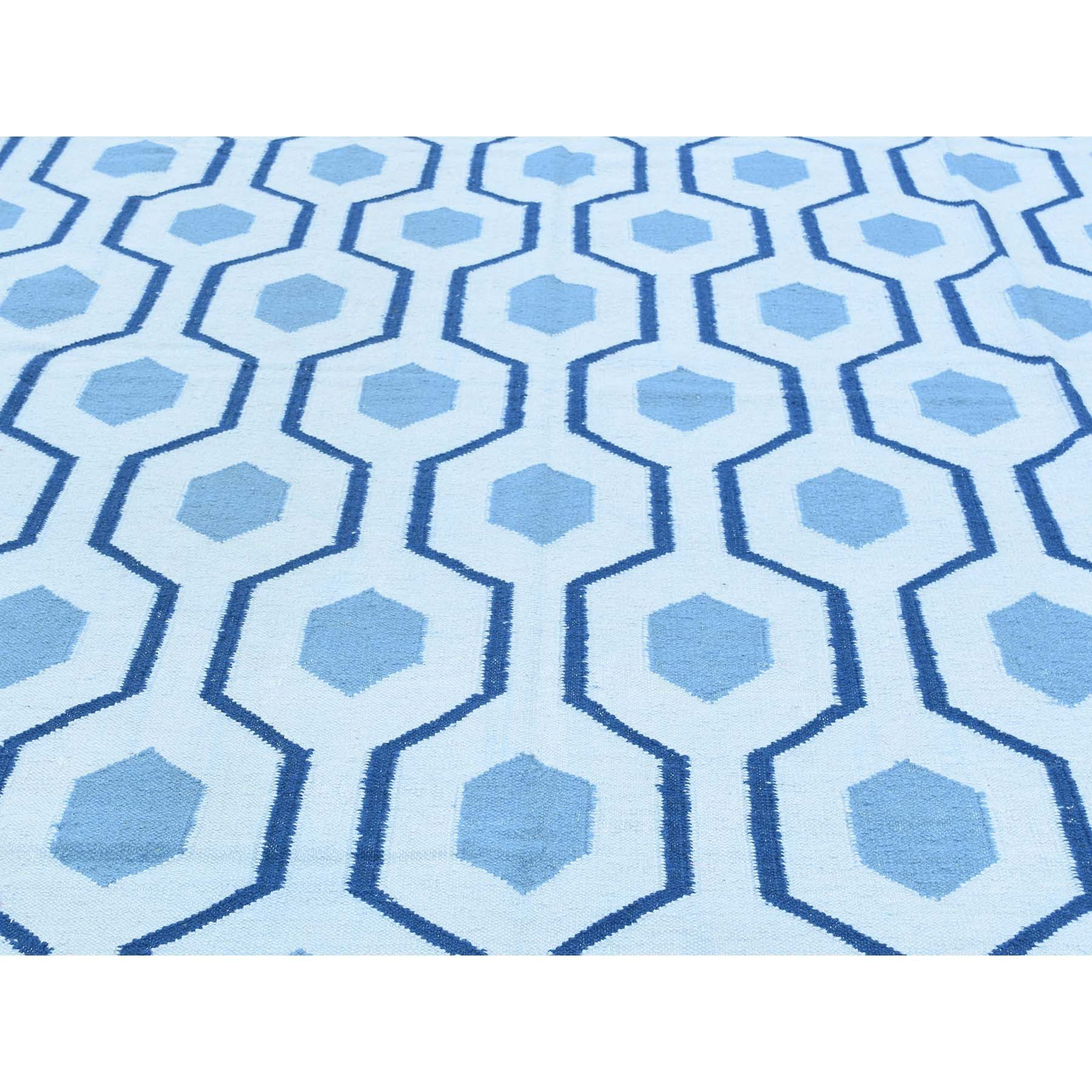 "Handmade Flat Weave Rectangle Rug > Design# SH32034 > Size: 9'-1"" x 12'-0"" [ONLINE ONLY]"