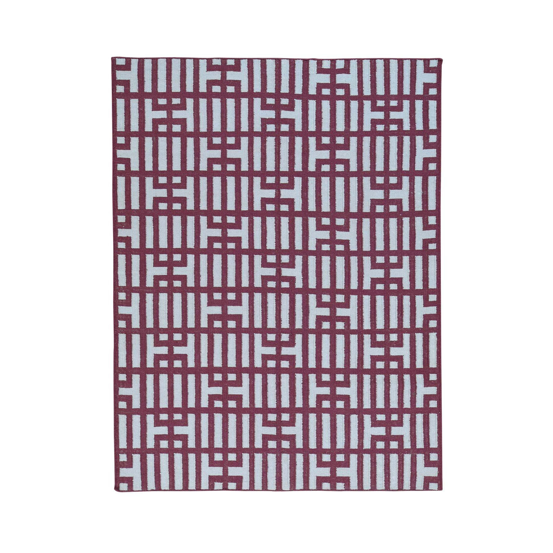 "Handmade Flat Weave Rectangle Rug > Design# SH32068 > Size: 5'-3"" x 7'-0"" [ONLINE ONLY]"
