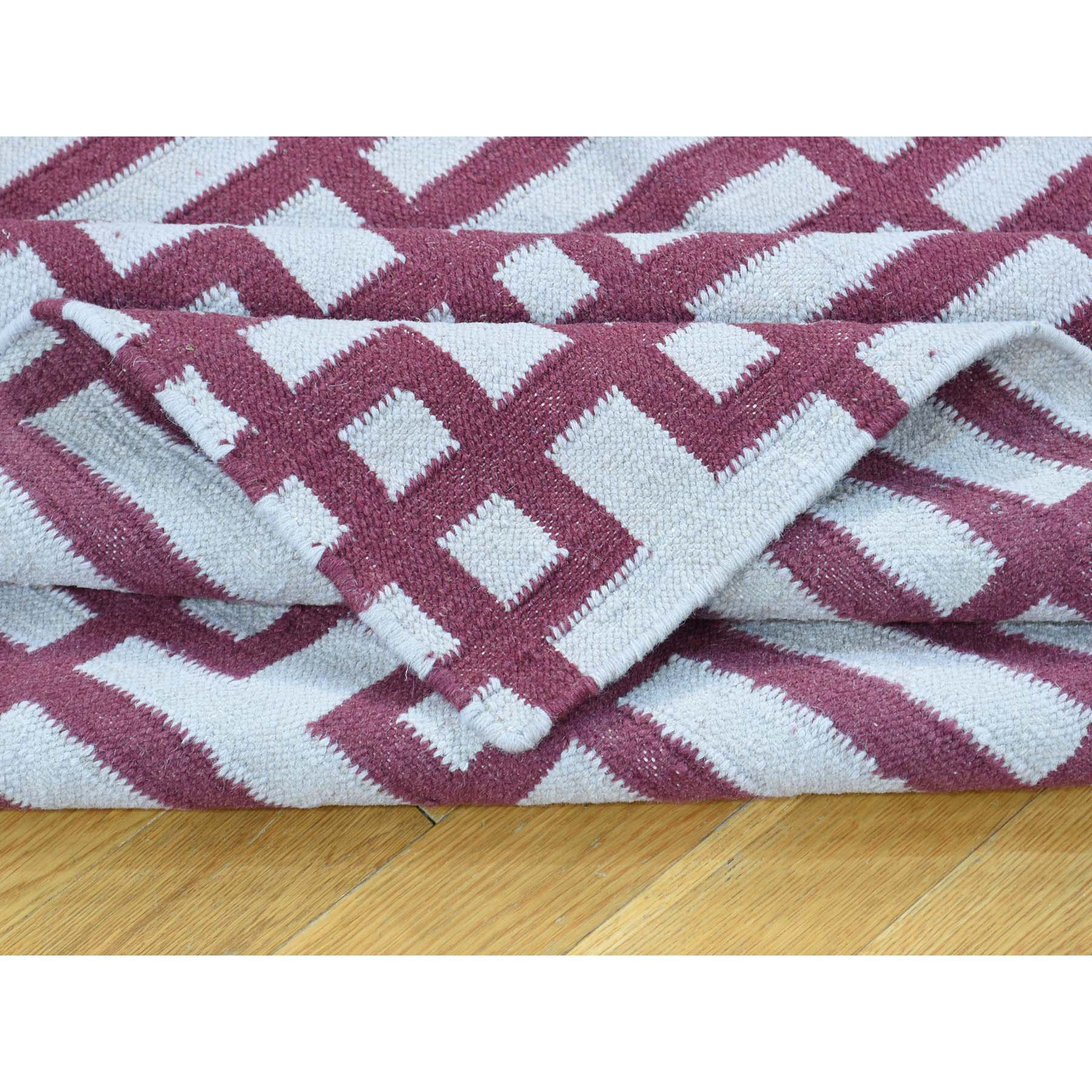 "Handmade Flat Weave Rectangle Rug > Design# SH32083 > Size: 4'-4"" x 6'-0"" [ONLINE ONLY]"
