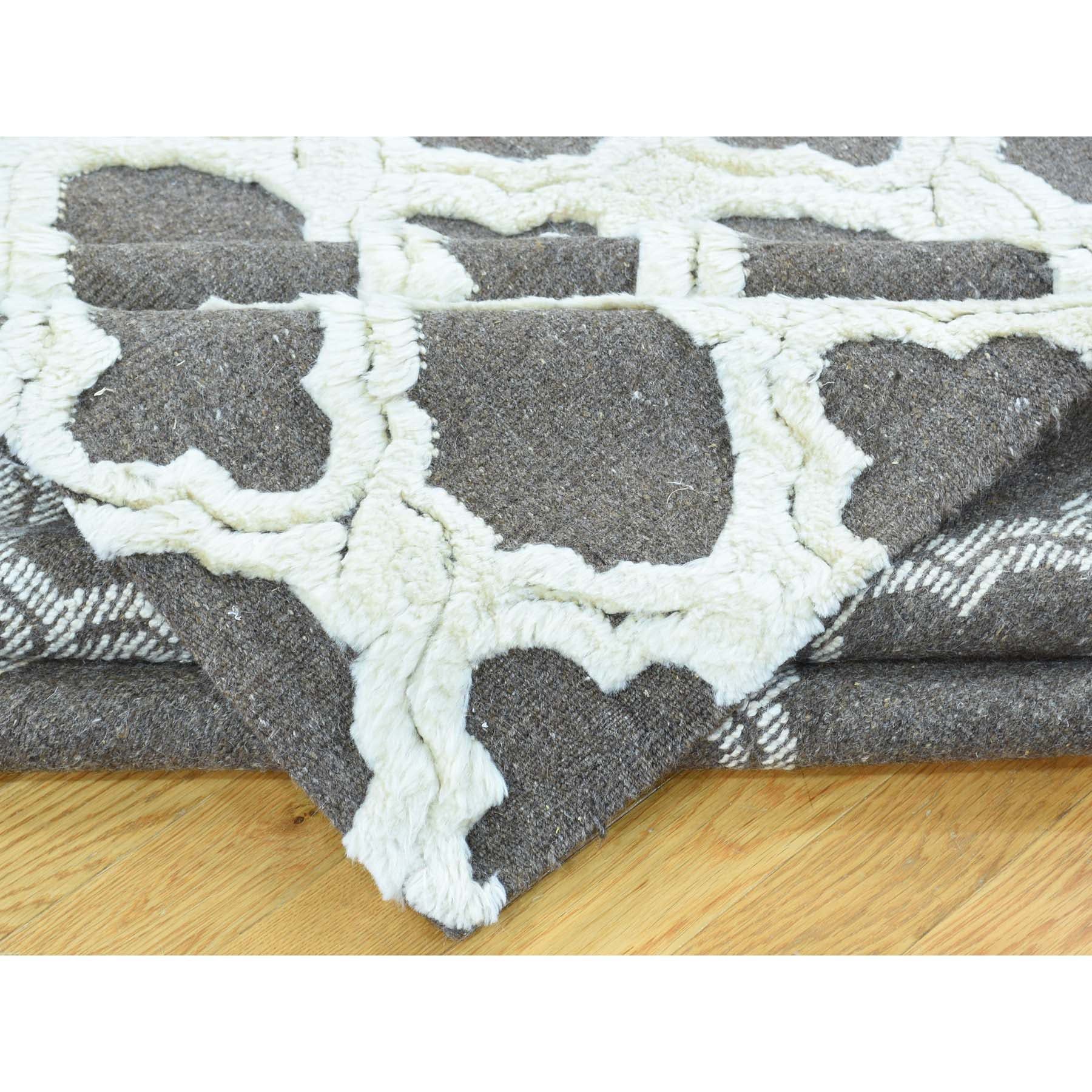 "Handmade Modern and Contemporary Rectangle Rug > Design# SH32086 > Size: 9'-3"" x 11'-7"" [ONLINE ONLY]"