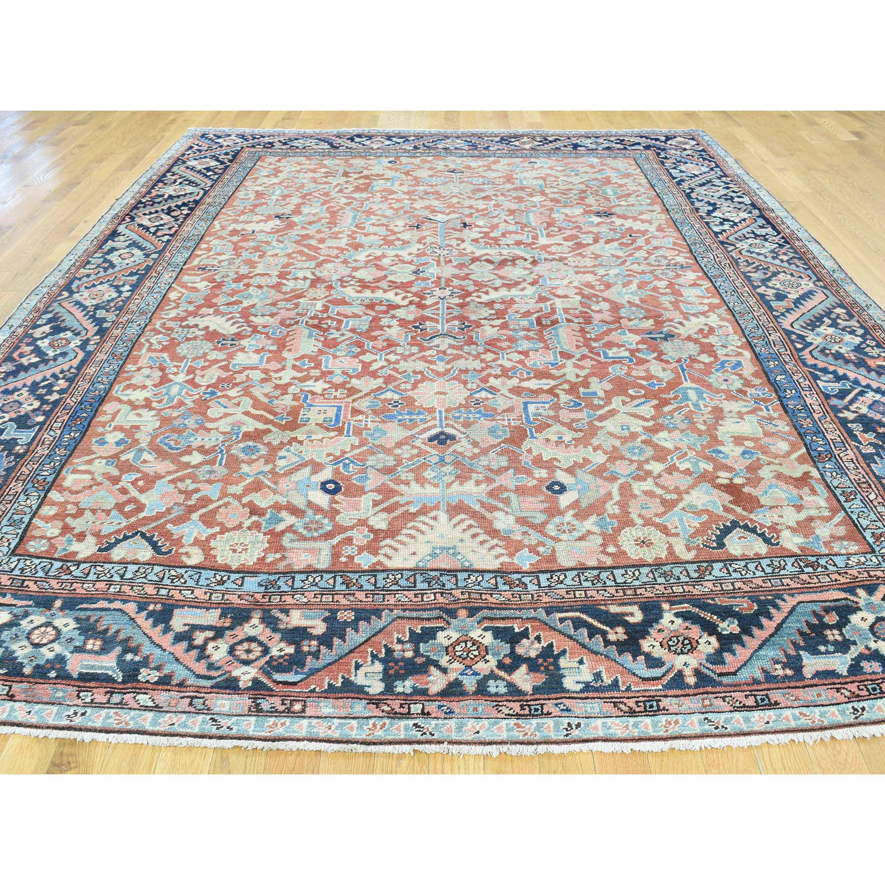 "Handmade Antique Rectangle Rug > Design# SH32139 > Size: 8'-7"" x 11'-8"" [ONLINE ONLY]"