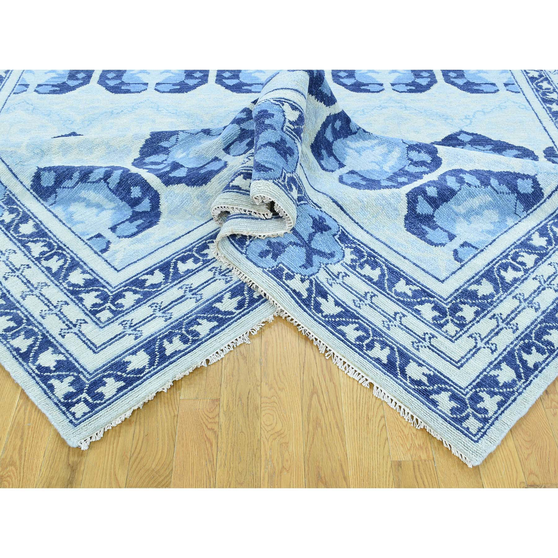 "Handmade Modern and Contemporary Rectangle Rug > Design# SH32164 > Size: 8'-1"" x 10'-0"" [ONLINE ONLY]"