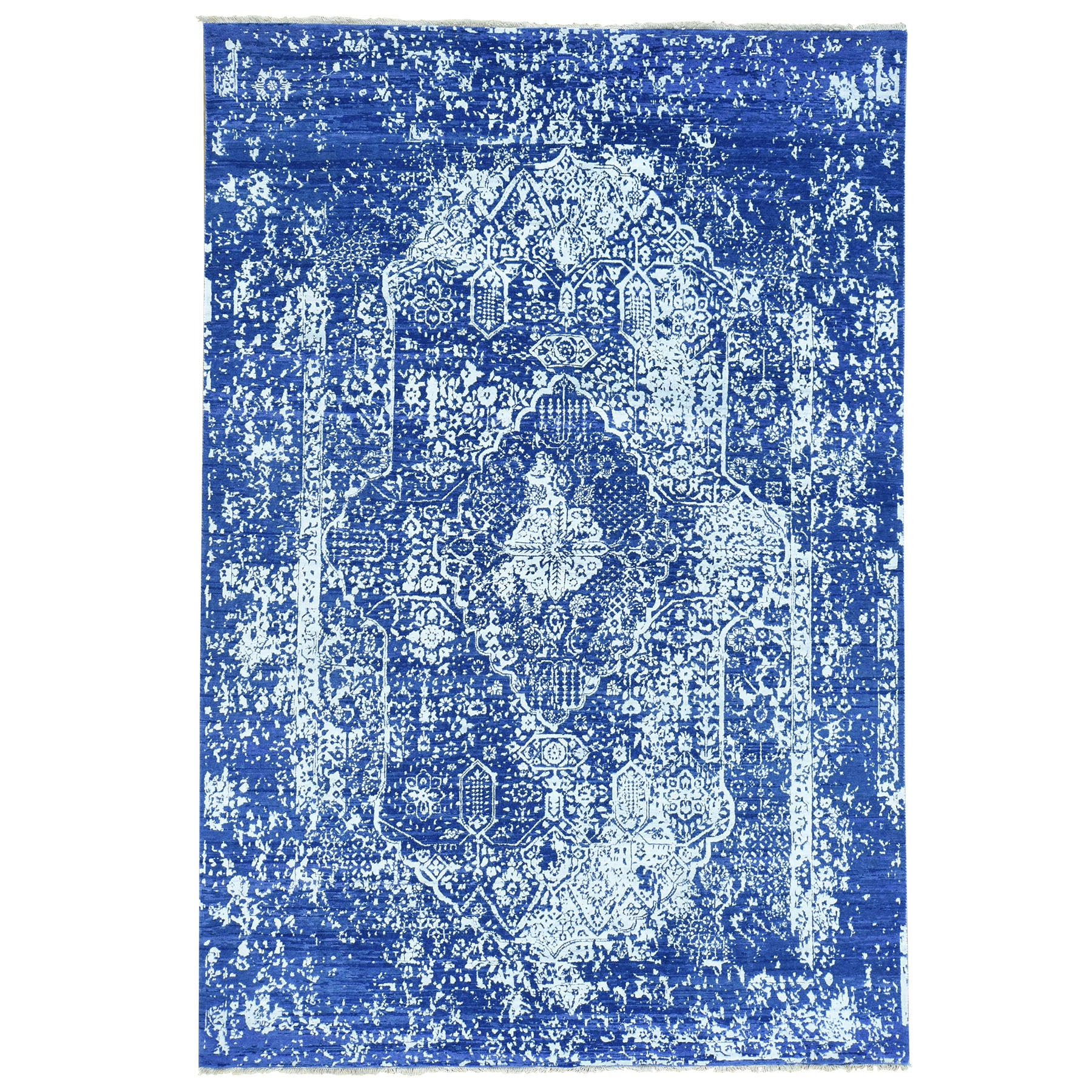 "Handmade Transitional Rectangle Rug > Design# SH32183 > Size: 6'-0"" x 8'-9"" [ONLINE ONLY]"