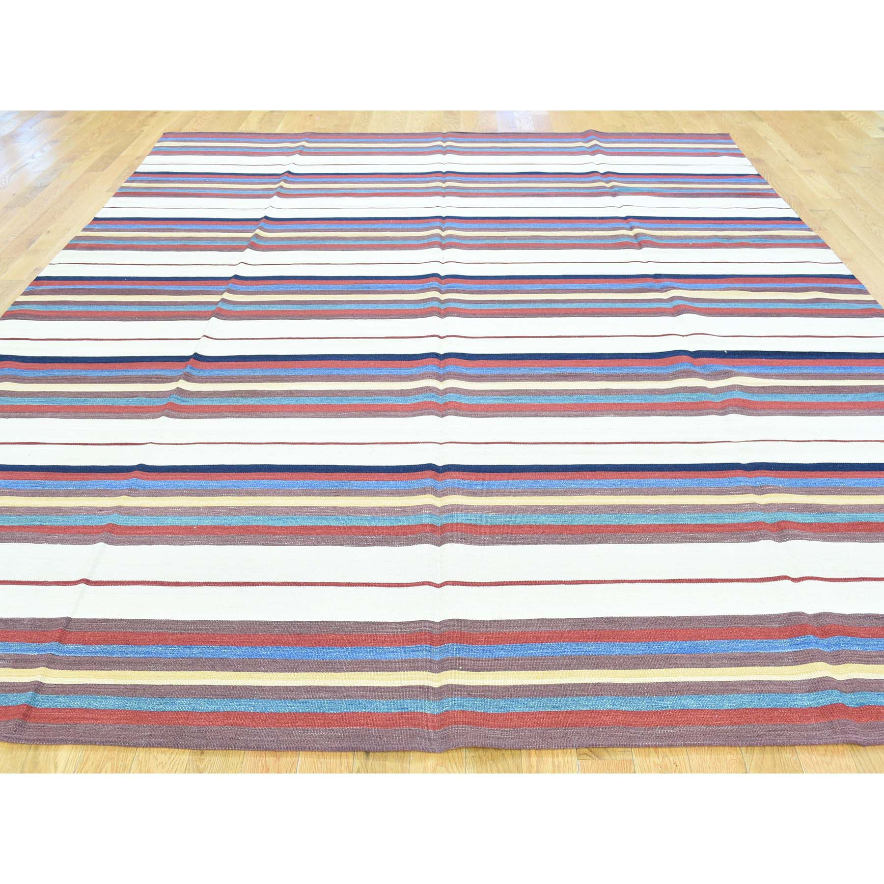 "Handmade Flat Weave Rectangle Rug > Design# SH32254 > Size: 8'-3"" x 10'-4"" [ONLINE ONLY]"