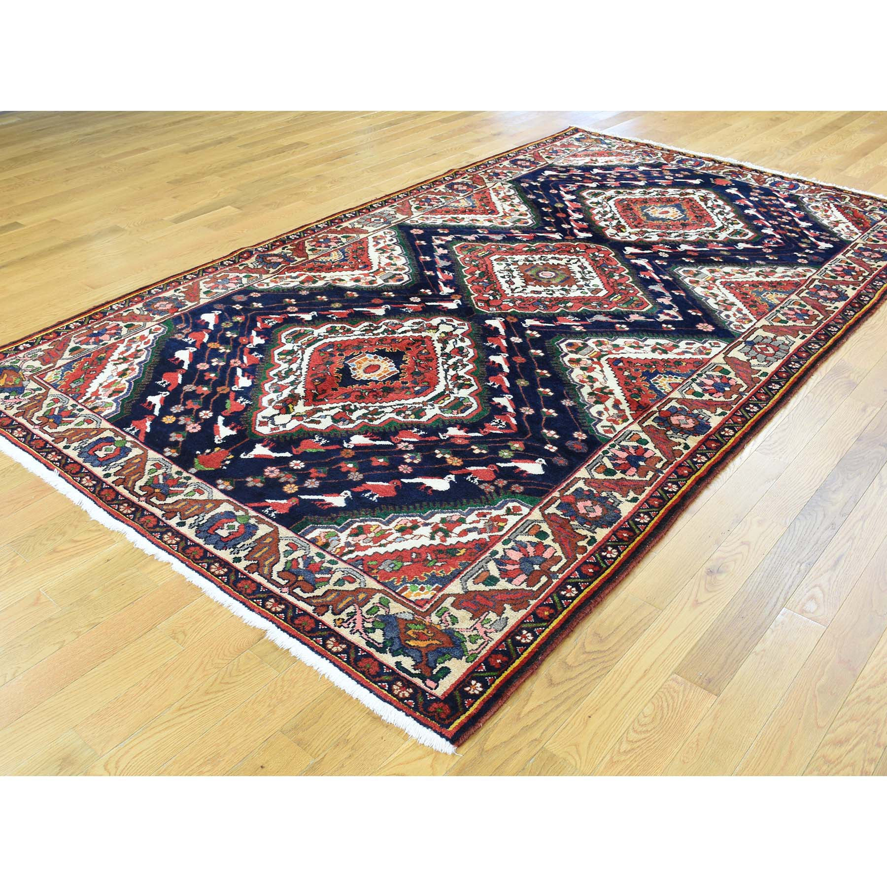 "Handmade Persian Rectangle Rug > Design# SH32280 > Size: 5'-9"" x 9'-10"" [ONLINE ONLY]"