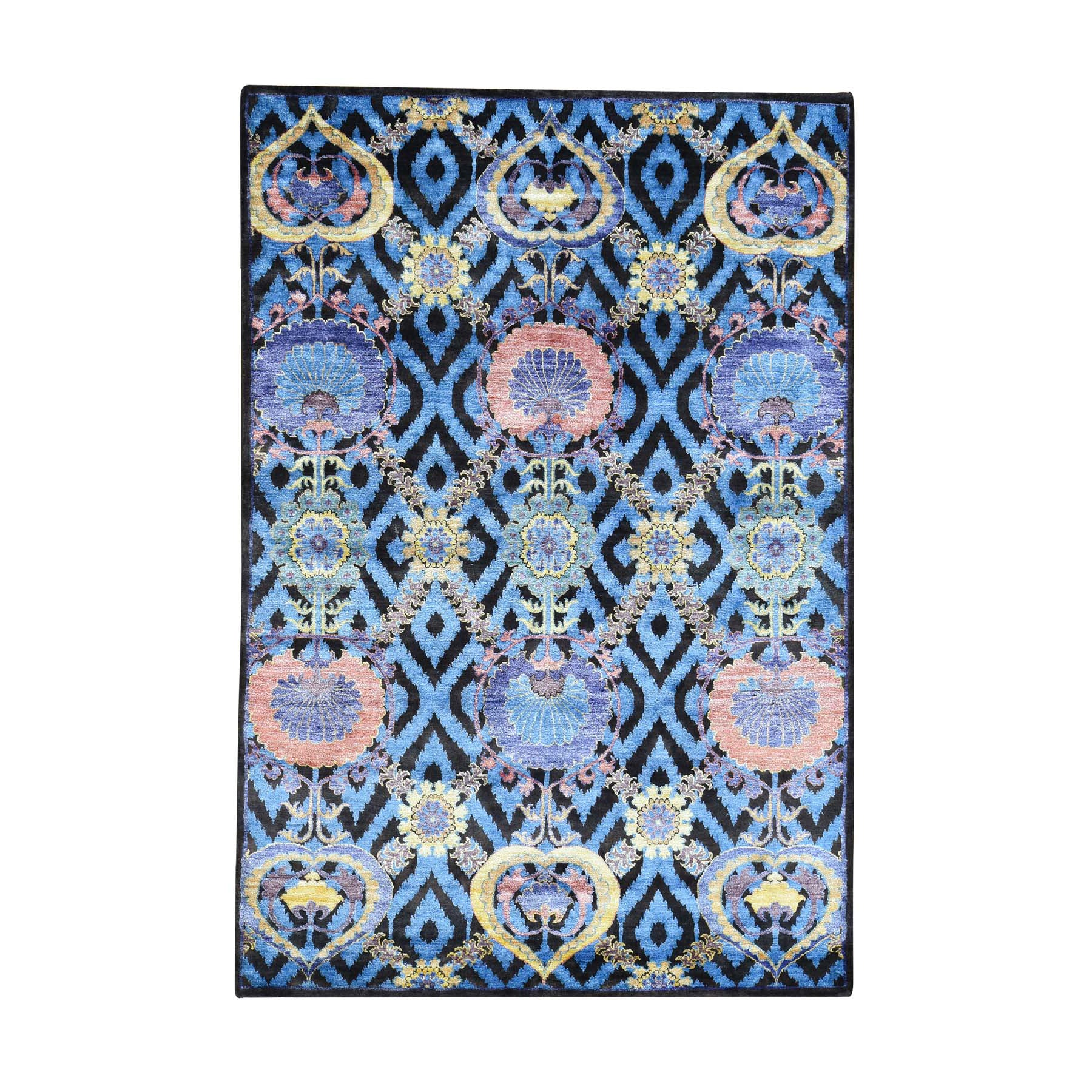"Handmade Modern and Contemporary Rectangle Rug > Design# SH32301 > Size: 4'-10"" x 7'-0"" [ONLINE ONLY]"