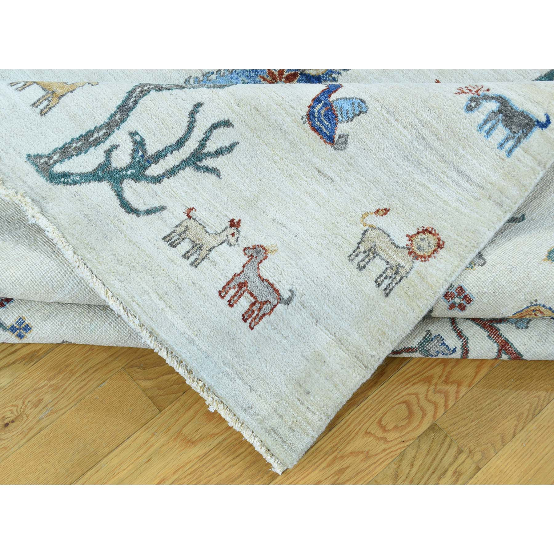 "Handmade Tribal & Geometric Rectangle Rug > Design# SH32759 > Size: 10'-0"" x 14'-2"" [ONLINE ONLY]"