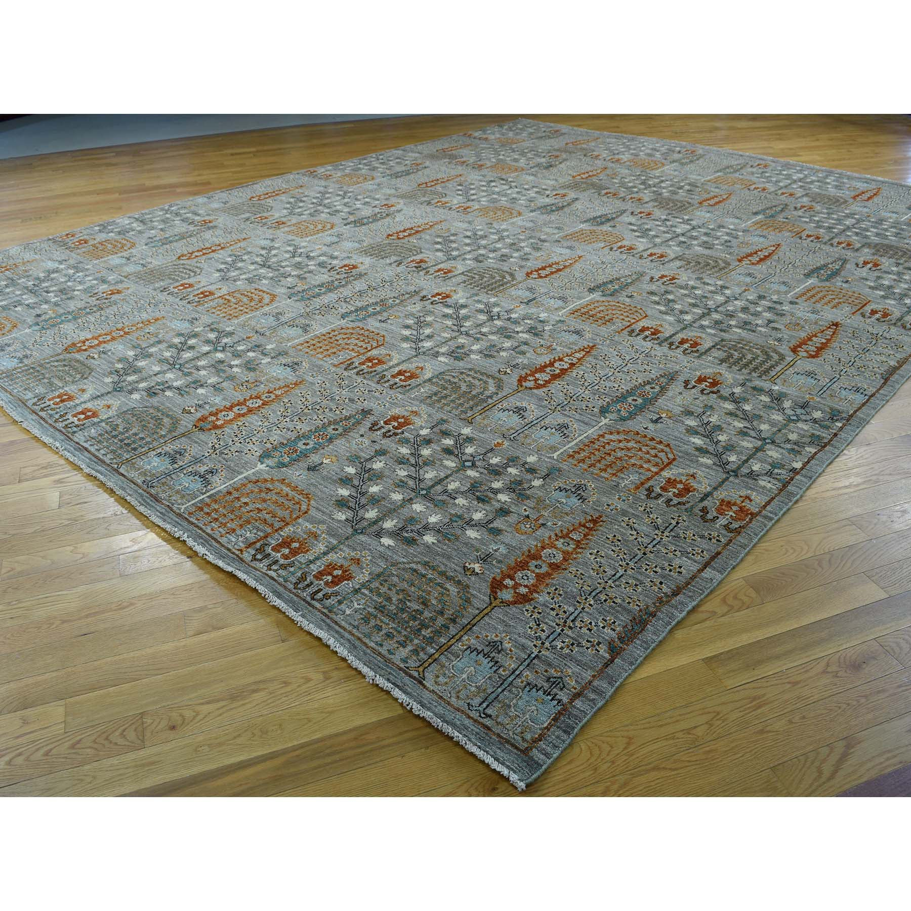"Handmade Tribal & Geometric Rectangle Rug > Design# SH32782 > Size: 12'-0"" x 15'-2"" [ONLINE ONLY]"