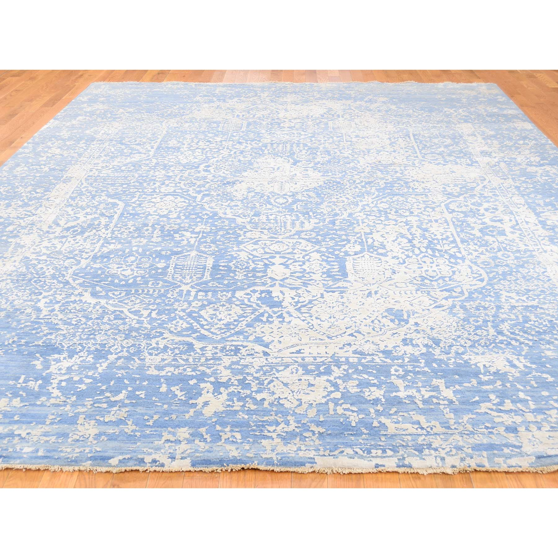"Handmade Transitional Rectangle Rug > Design# SH39562 > Size: 9'-2"" x 12'-1"" [ONLINE ONLY]"