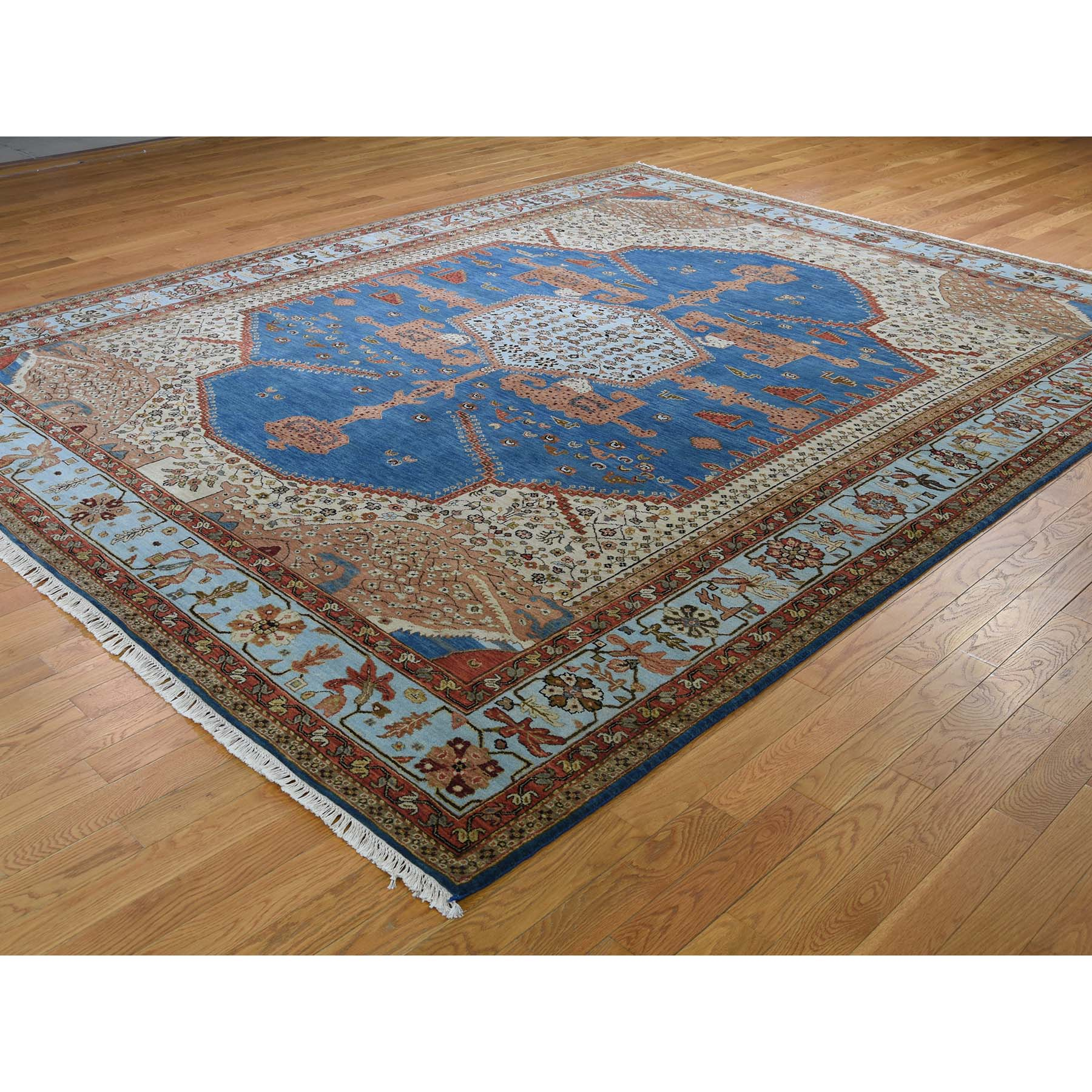 "Handmade Heriz Rectangle Rug > Design# SH43638 > Size: 9'-2"" x 11'-7"" [ONLINE ONLY]"