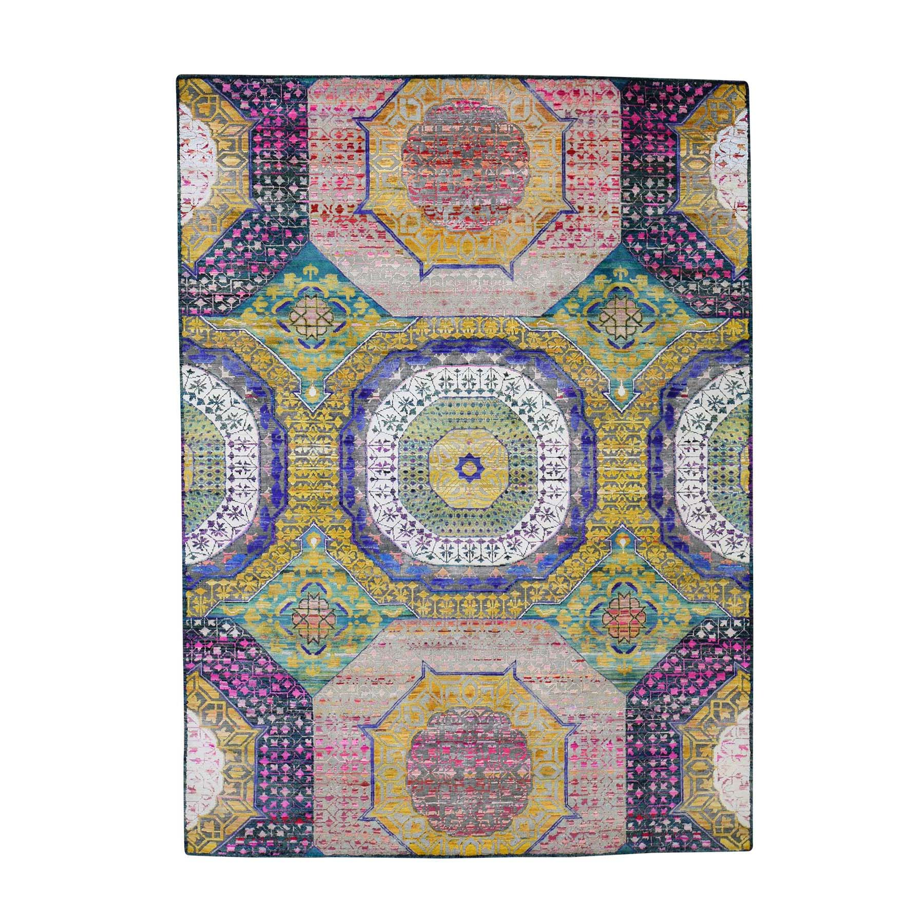 "Handmade Modern and Contemporary Rectangle Rug > Design# SH44408 > Size: 5'-4"" x 7'-3"" [ONLINE ONLY]"