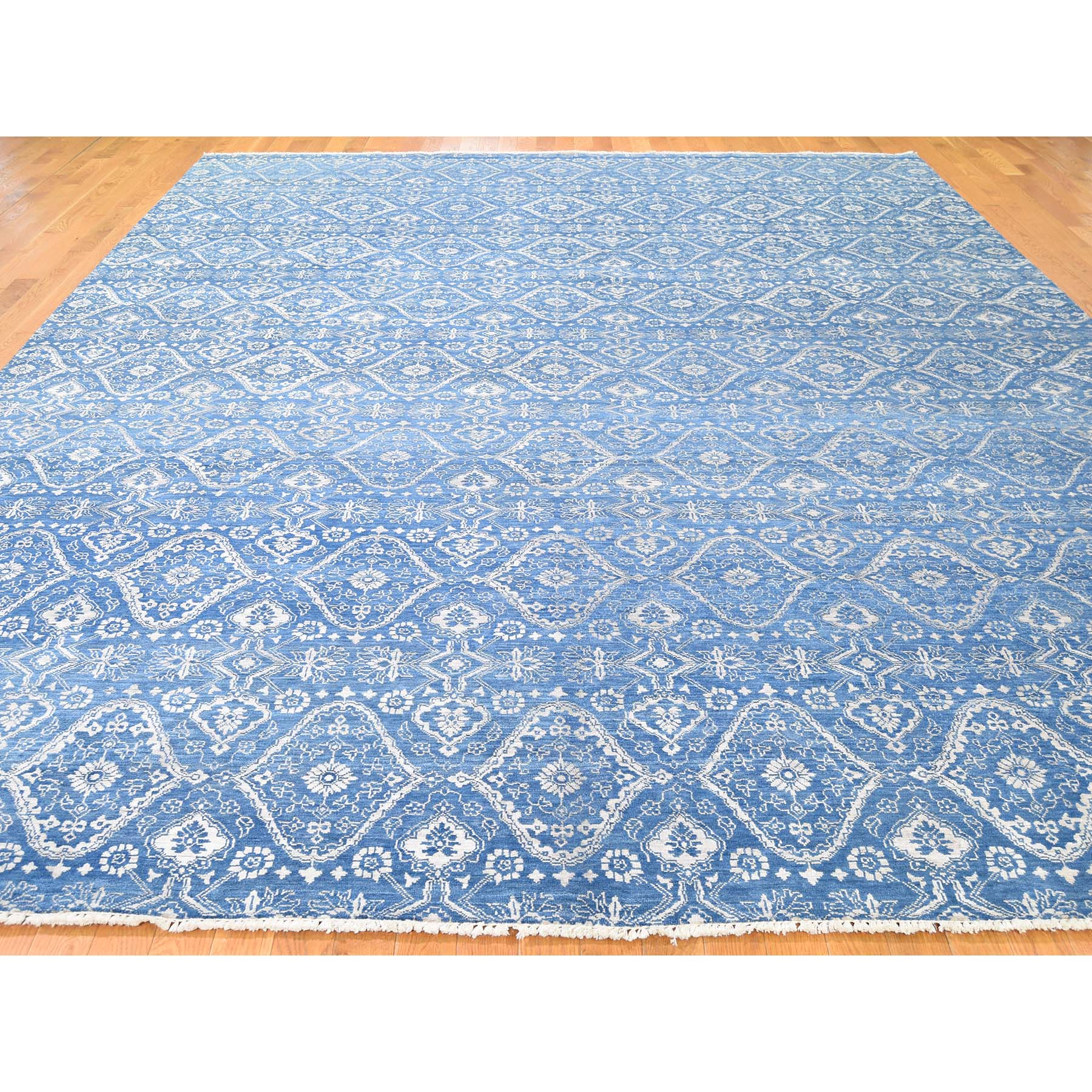 "Handmade Ikat And Suzani Design Rectangle Rug > Design# SH44740 > Size: 10'-0"" x 13'-0"" [ONLINE ONLY]"